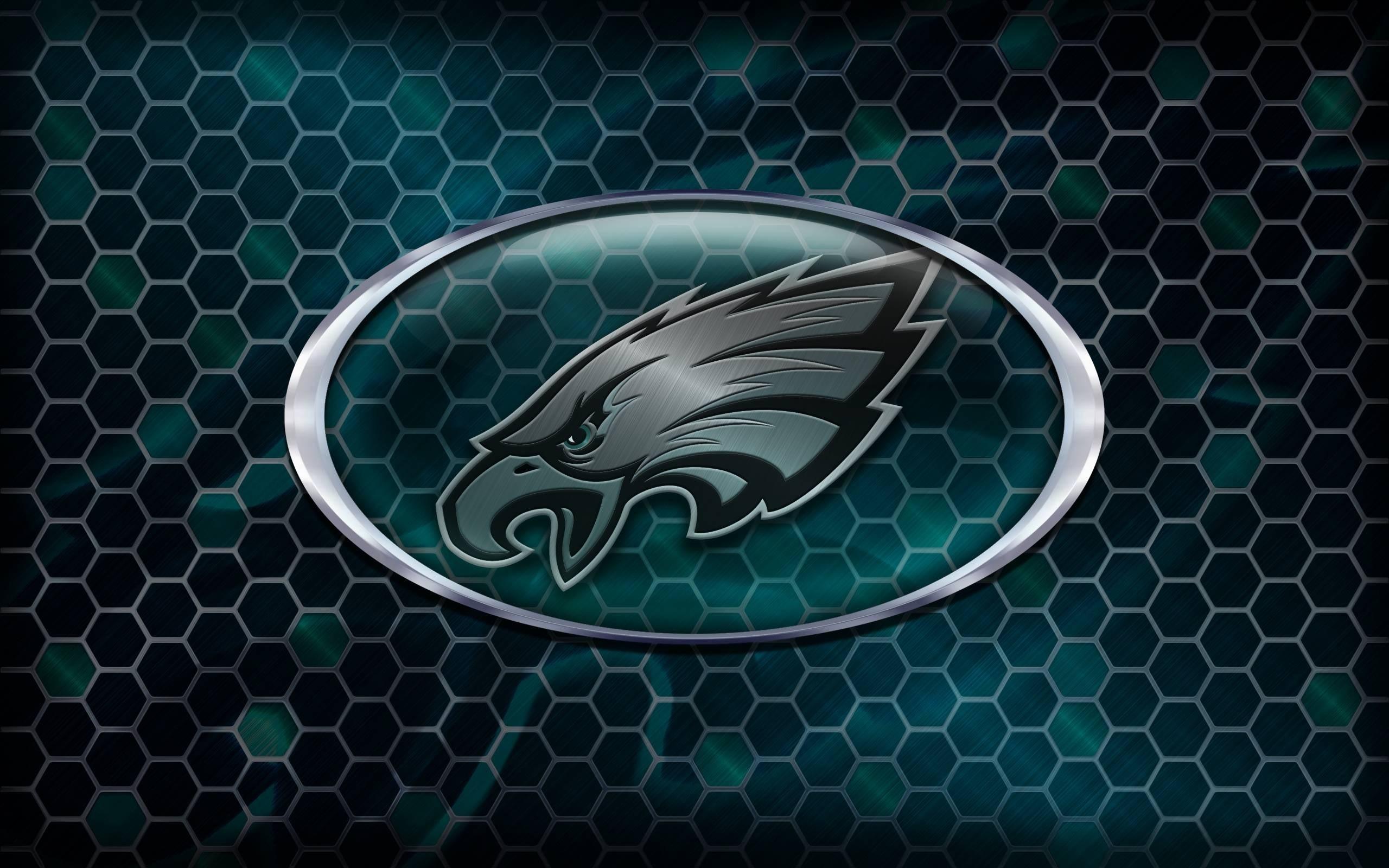 philadelphia eagles logo wallpapers hd background download free
