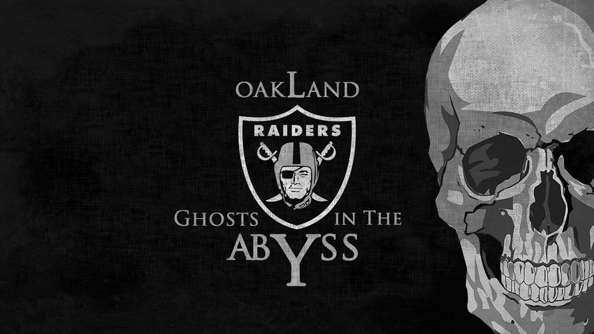 OAKLAND RAIDERS nfl football dark skull wallpaper background