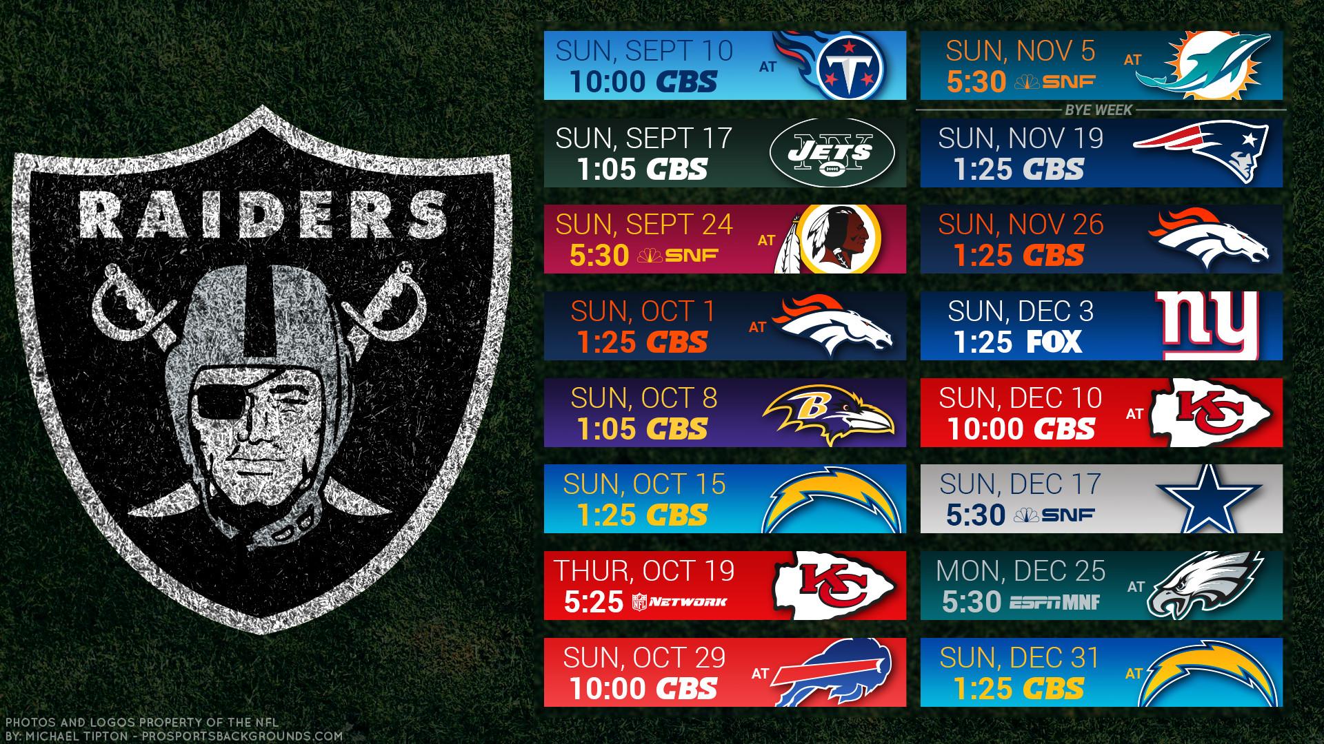 Oakland Raiders 2017 schedule turf football logo wallpaper free pc desktop  computer …
