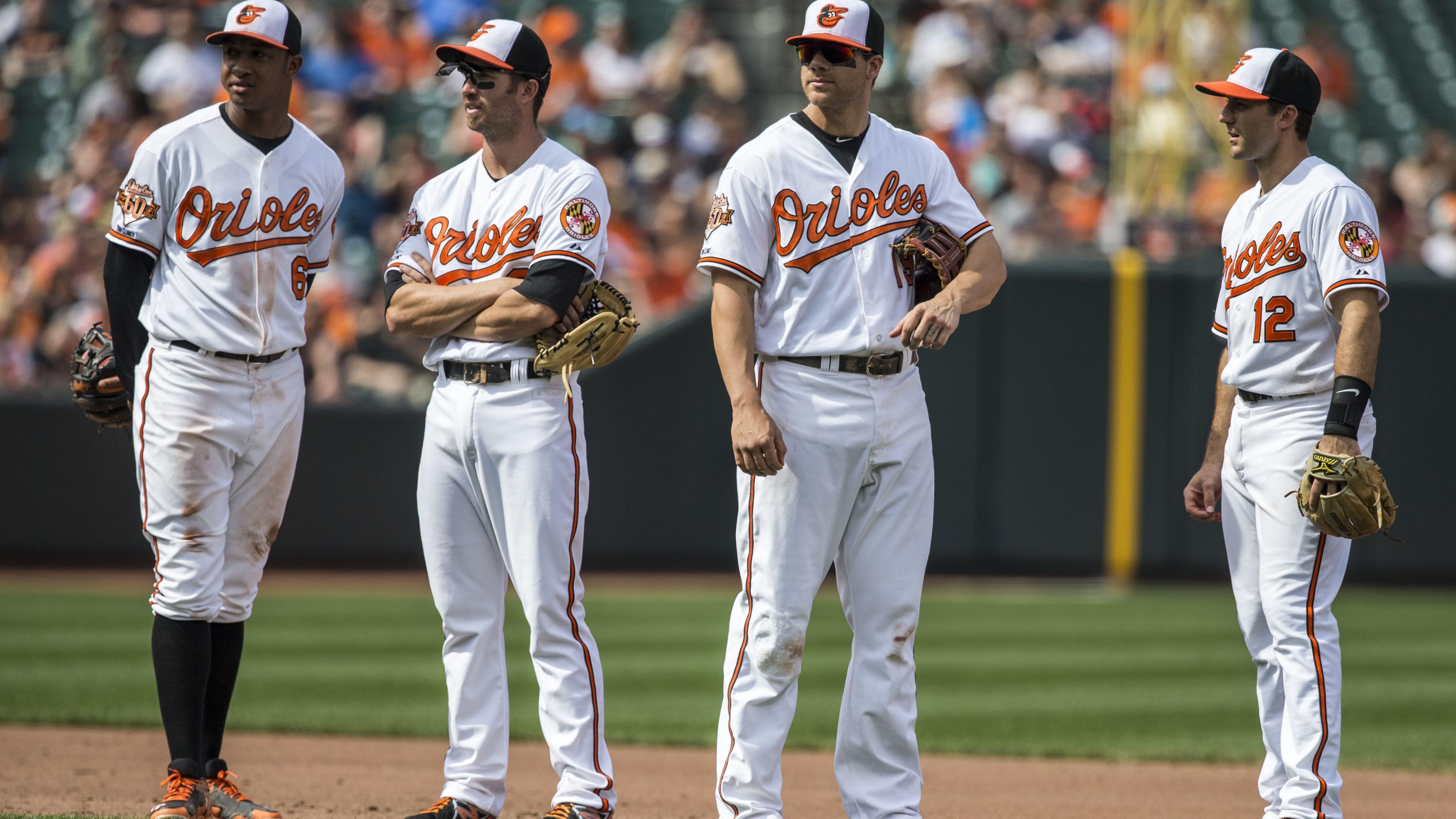 Wallpaper: Baltimore Orioles Infielders Baseball Players. Ultra HD 4K  3840×2160