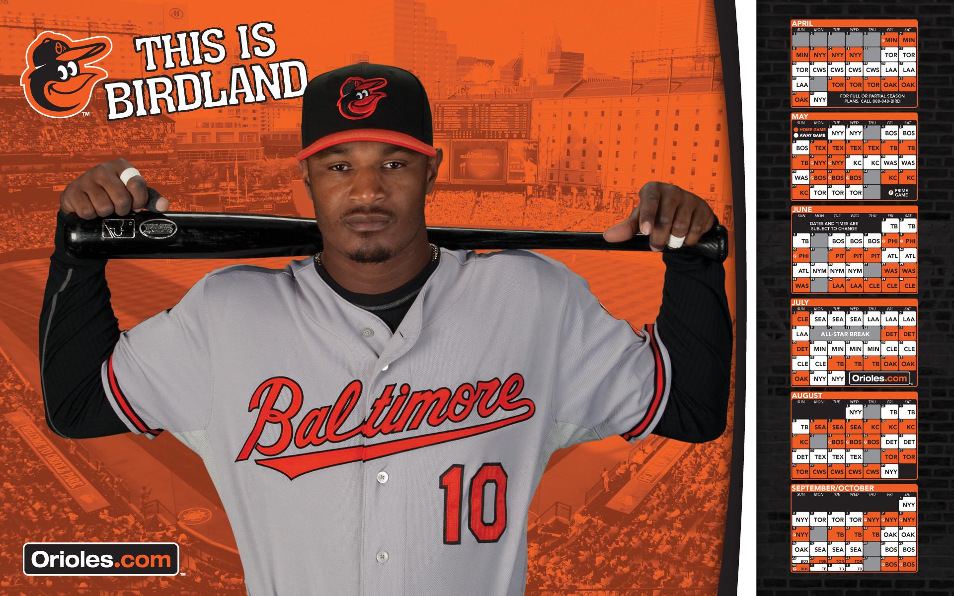 MLB Baltimore Orioles Adam Jones 2012 Schedule WIDE MLB .