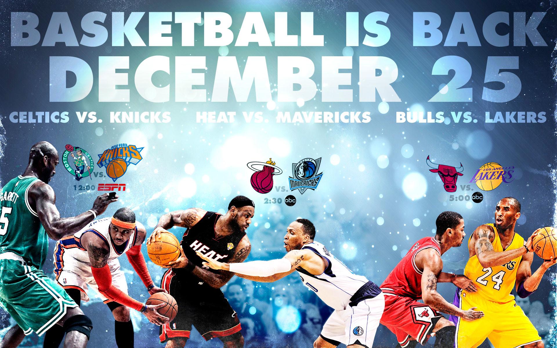NBA Is Back Widescreen Wallpaper