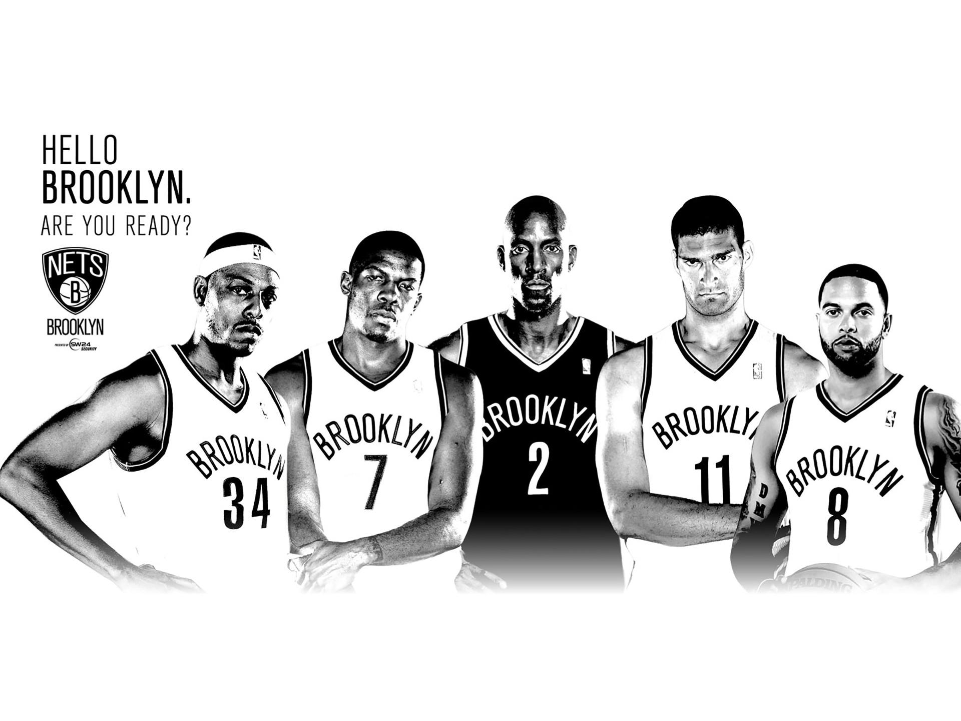 Brooklyn Nets Basketball Team   Brooklyn Nets 2014 NBA Team Wallpaper
