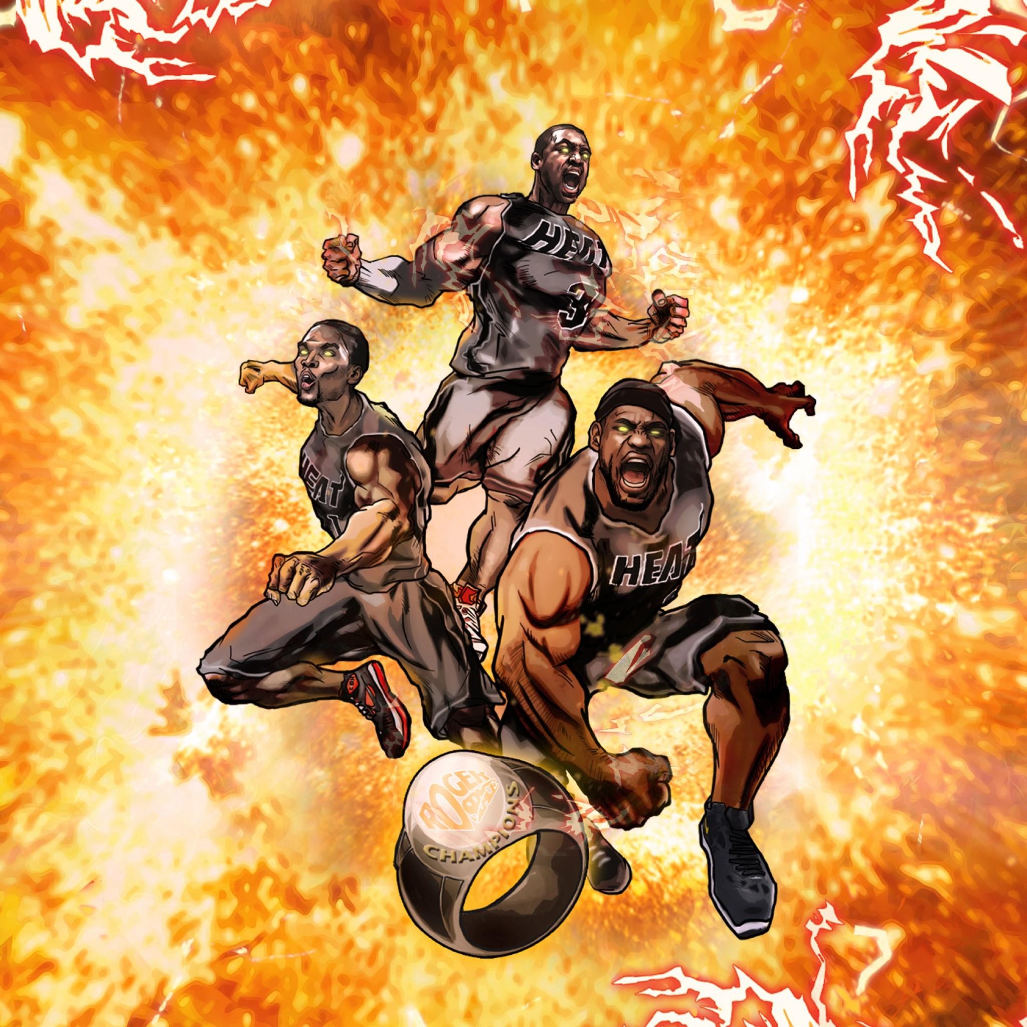 Preview wallpaper nba, miami, heat, miami heat, basketball, sports 2048×2048