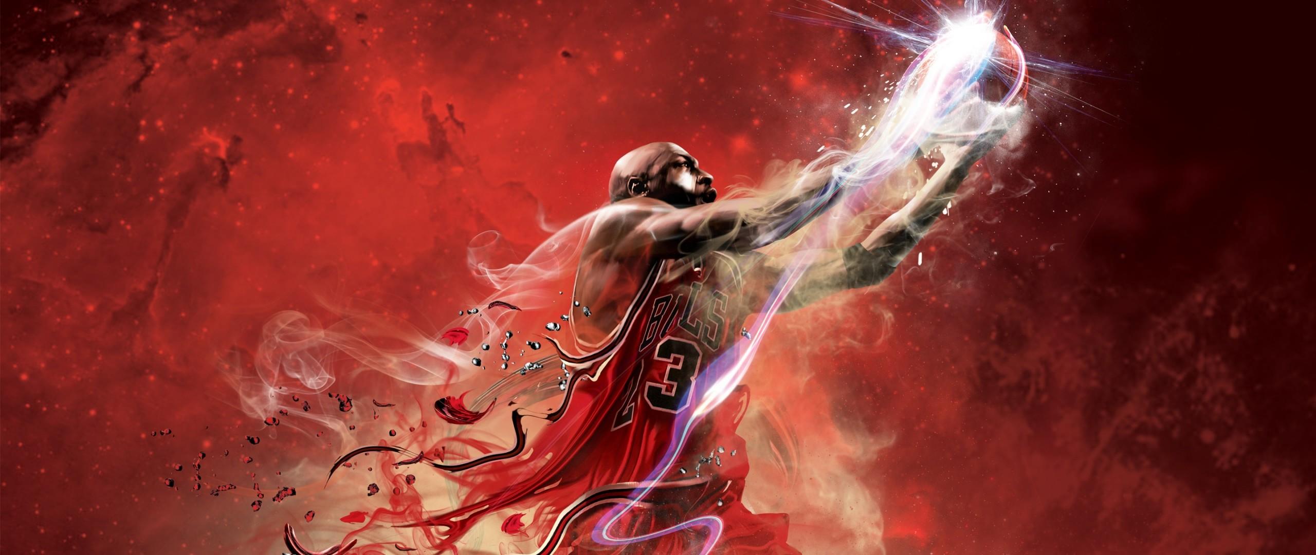 Preview wallpaper nba, 2k12, game, basketball, ball, jump, sports 2560×1080