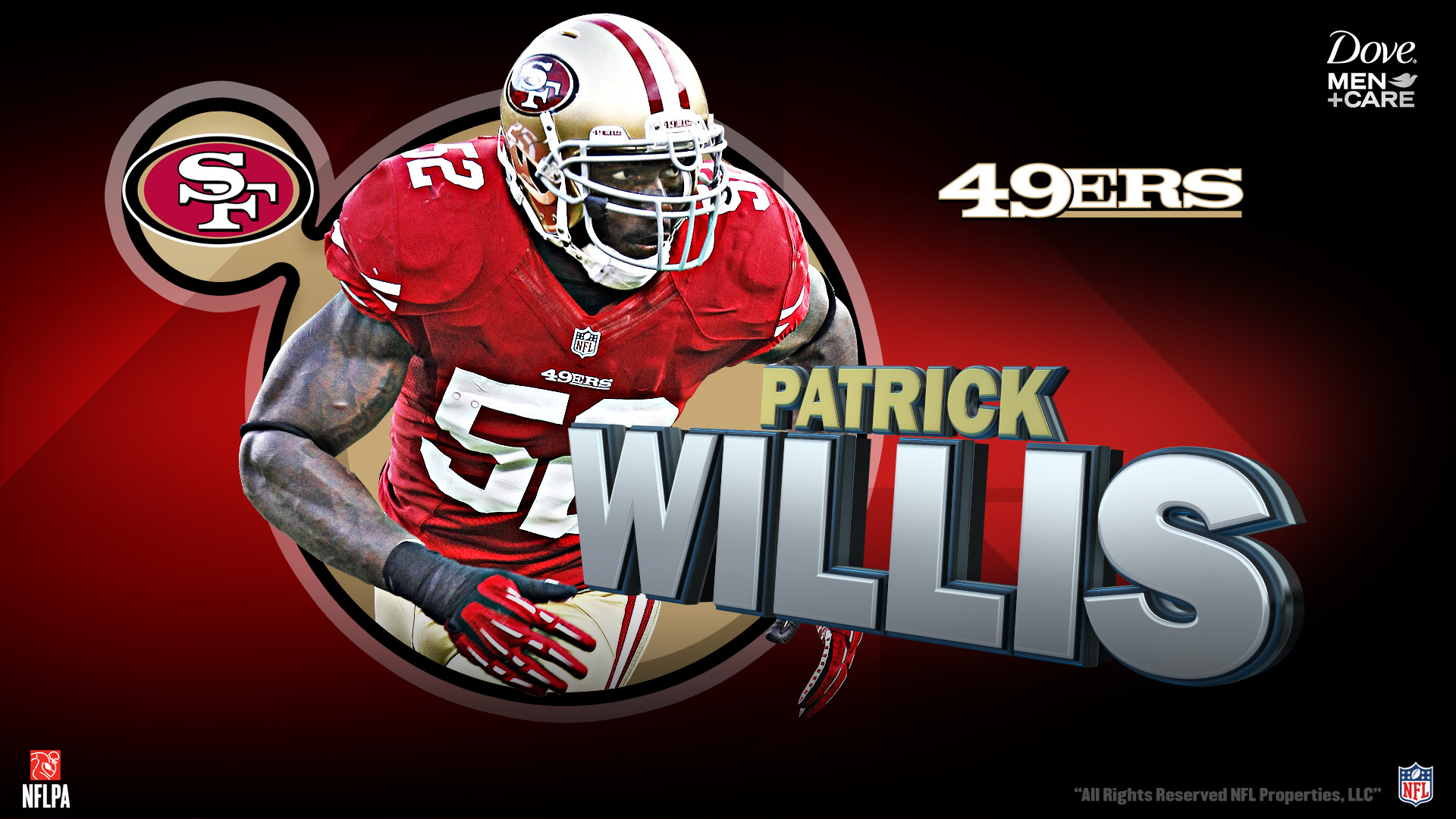 Awesome Patrick Willis wallpaper. Background of the day: San Francisco 49ers