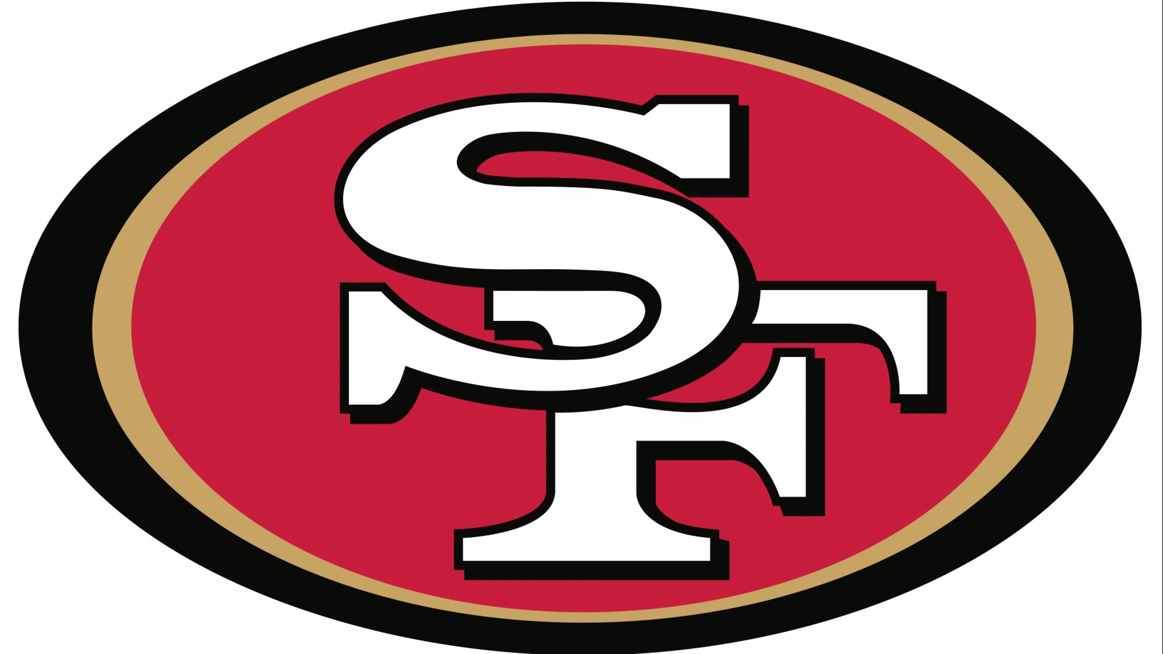 Preview wallpaper san francisco 49ers, football, logo 3840×2160