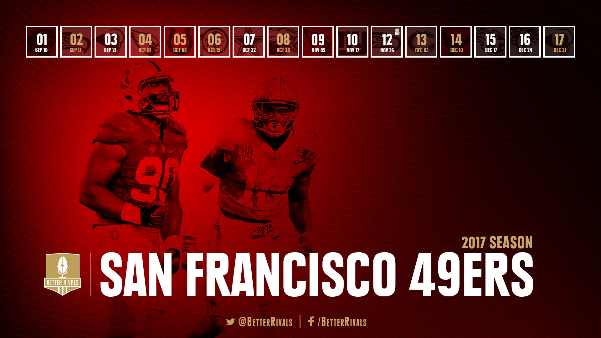 Get ready for the season by downloading the new 49ers schedule wallpapers  for your desktop or mobile.