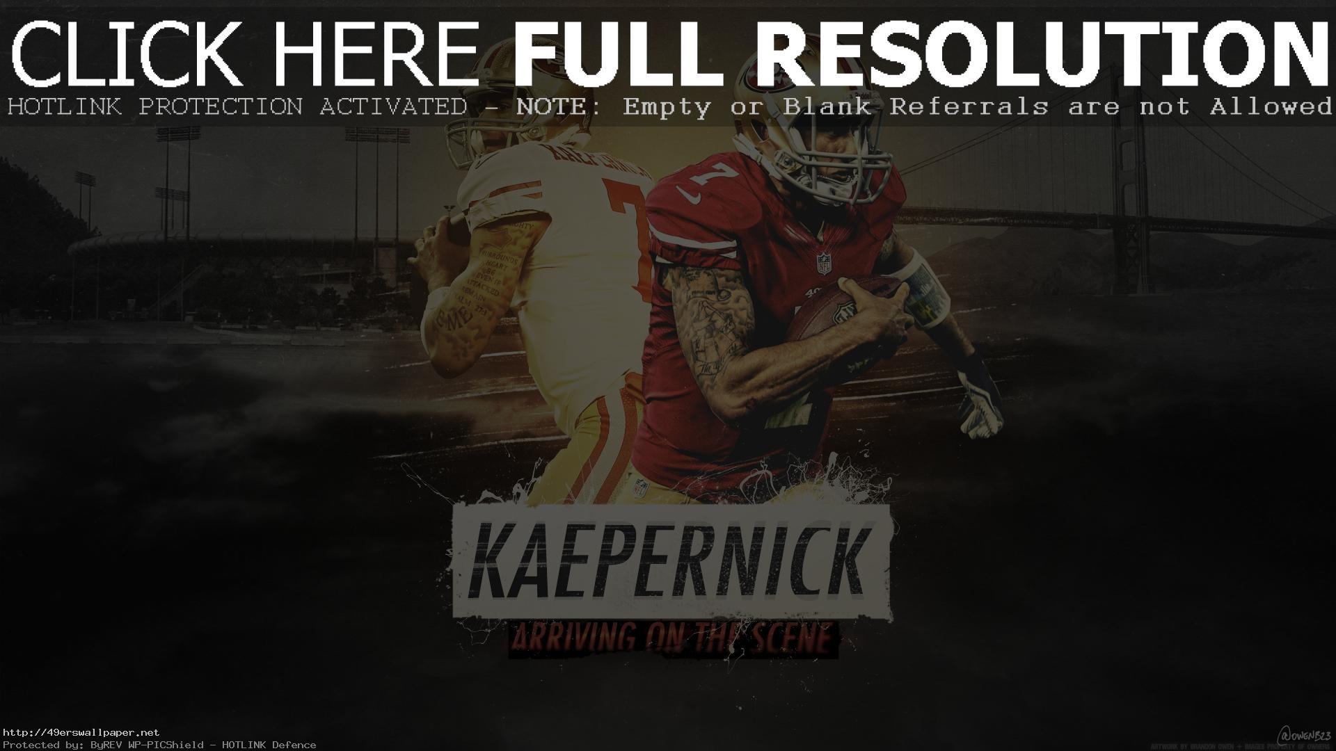 Kaepernick Arriving On The Scene Wallp