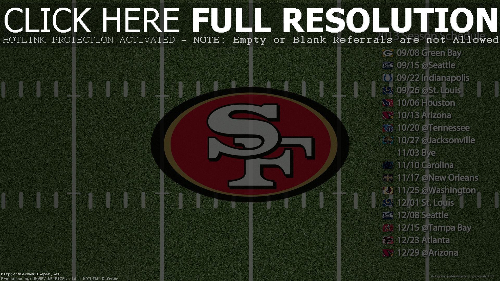 49ers Nfl Field Sked 1920 1080