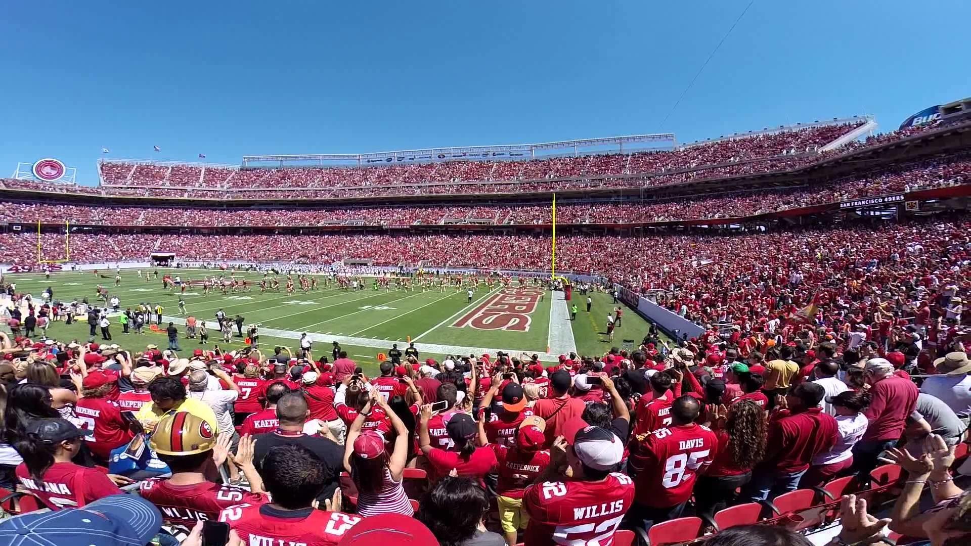 Levi Stadium @ 49ers first home pre-season game vs Broncos, 8-2014