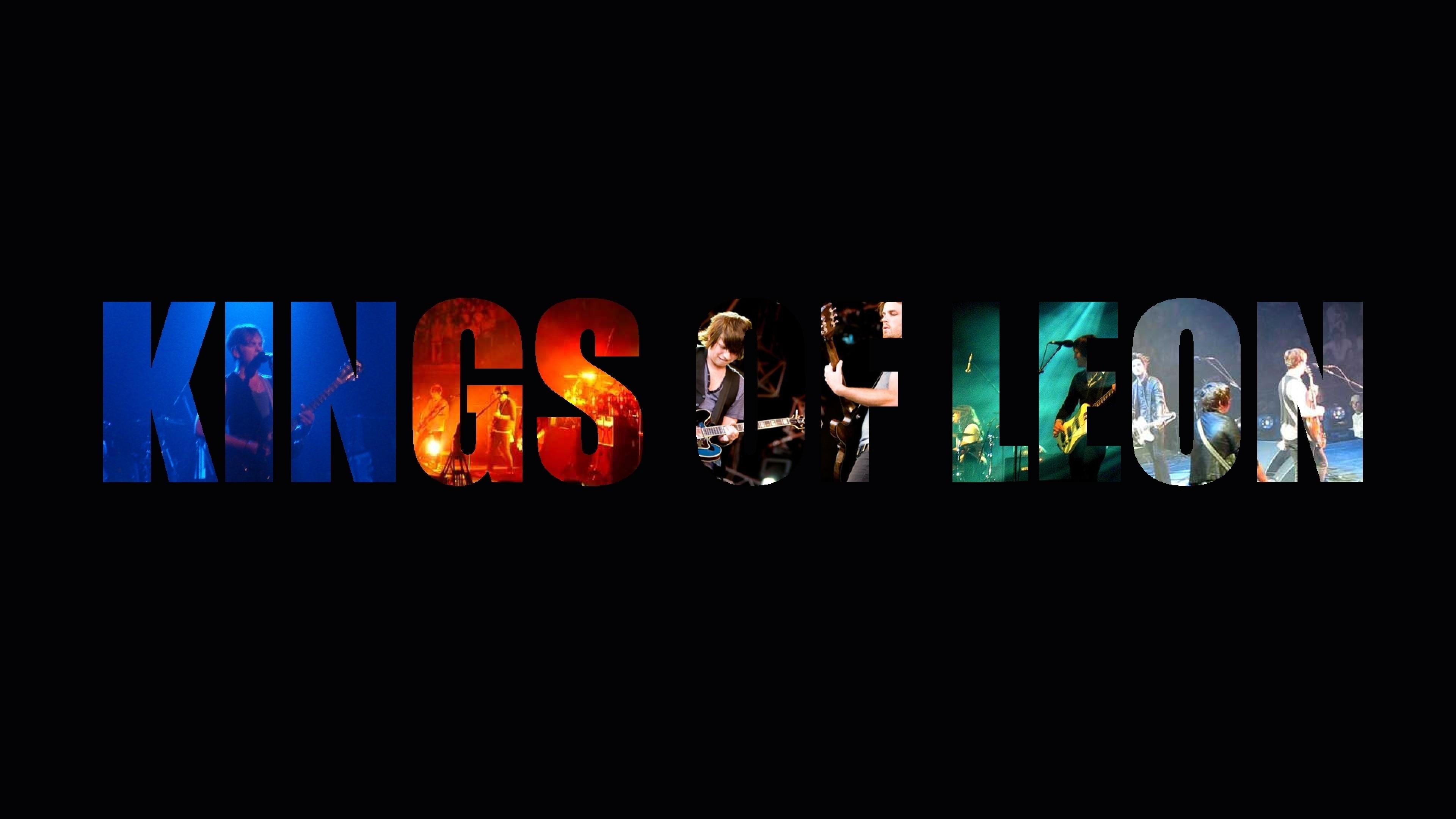 Wallpaper kings of leon, letters, action, concert, members