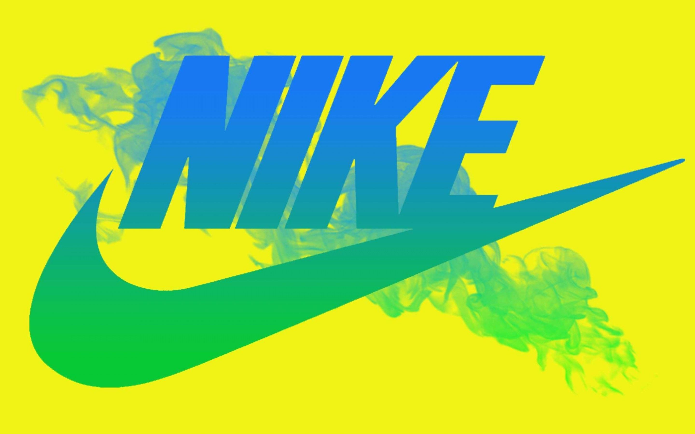 Blue Nike Logo Yellow Background Wallpaper Ful #6924 Wallpaper .