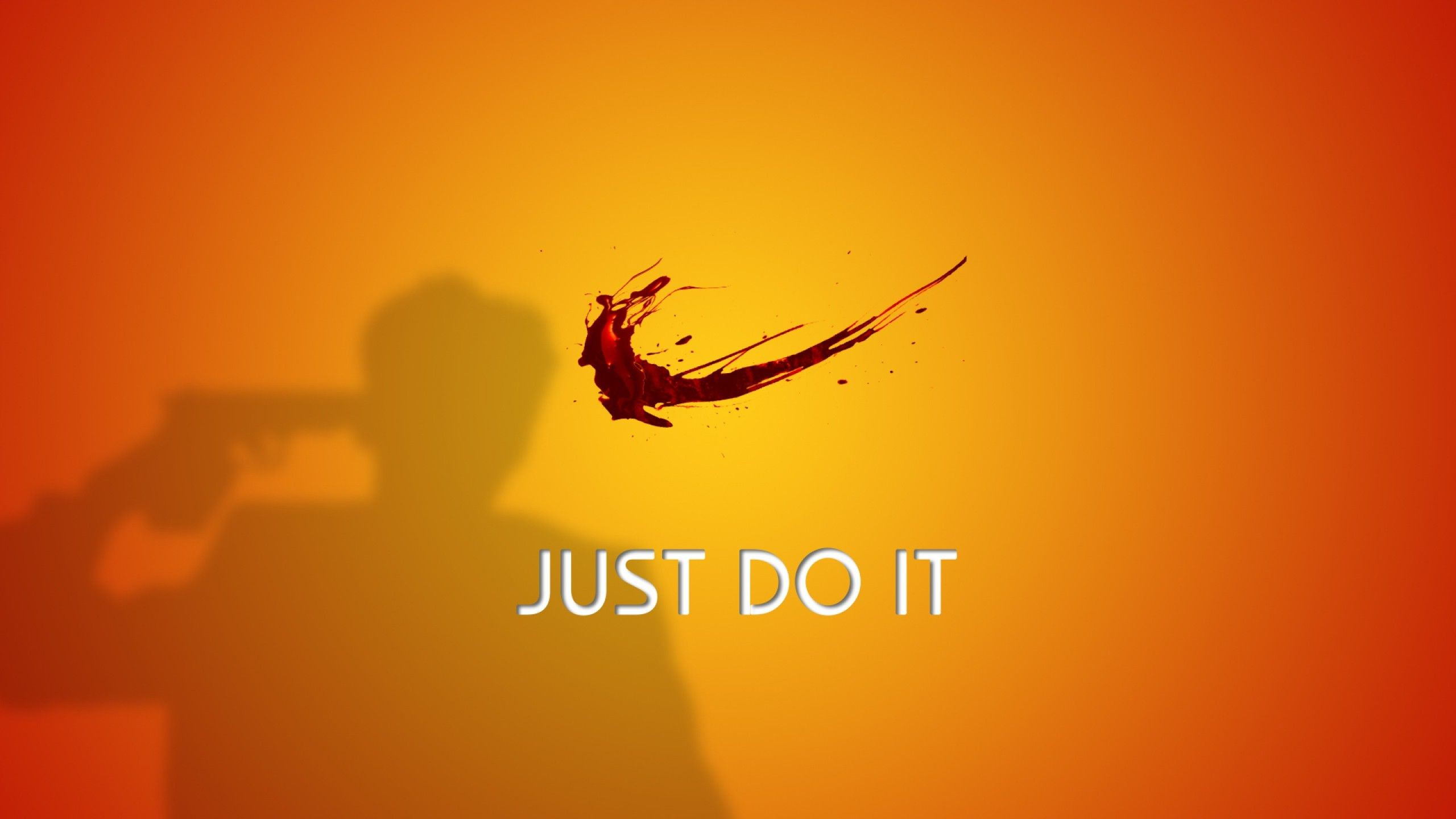 Wallpapers Suicide Just Do It Blood Nike Yellow .