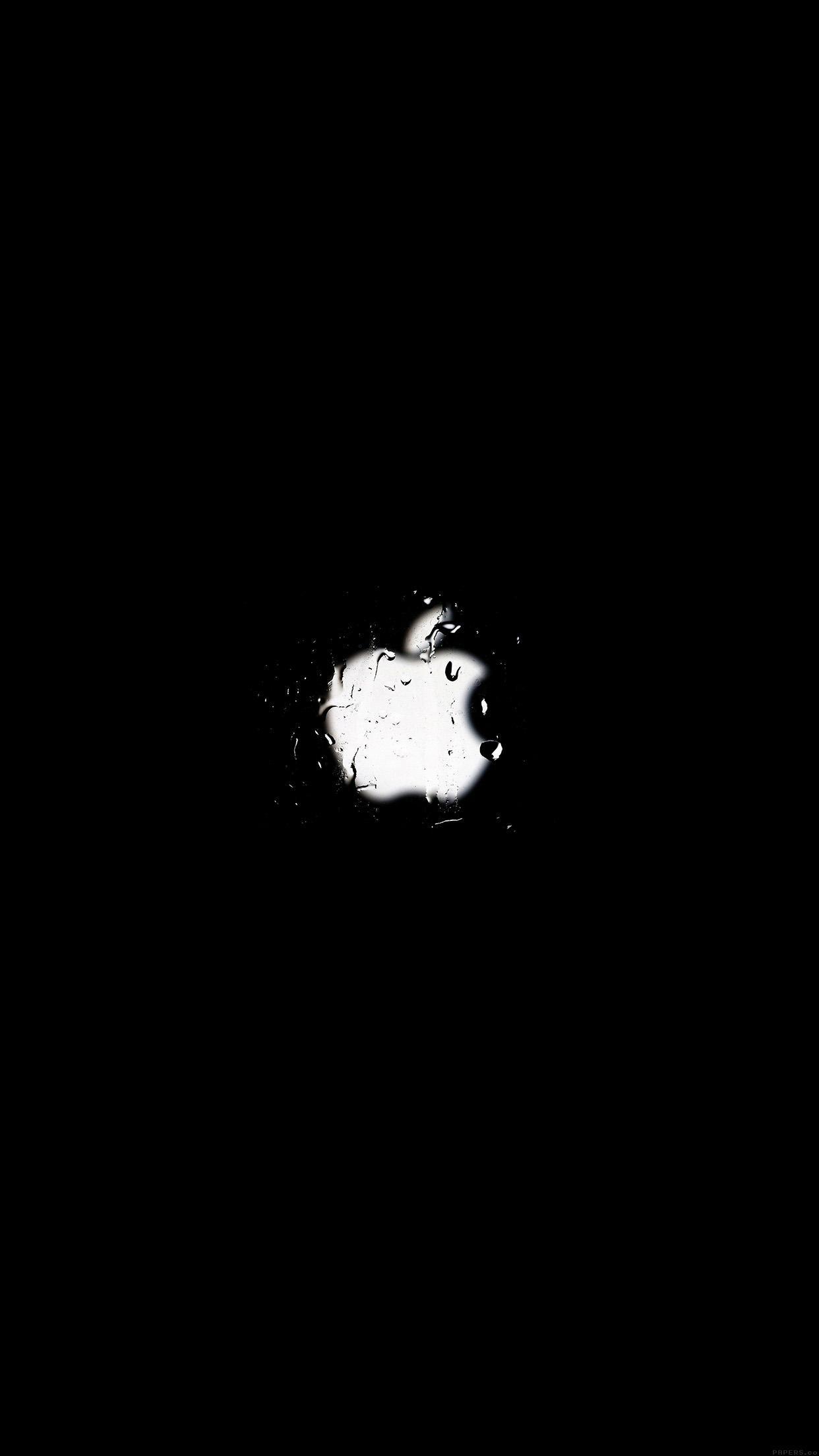 Apple Logo Dark Simple Minimal