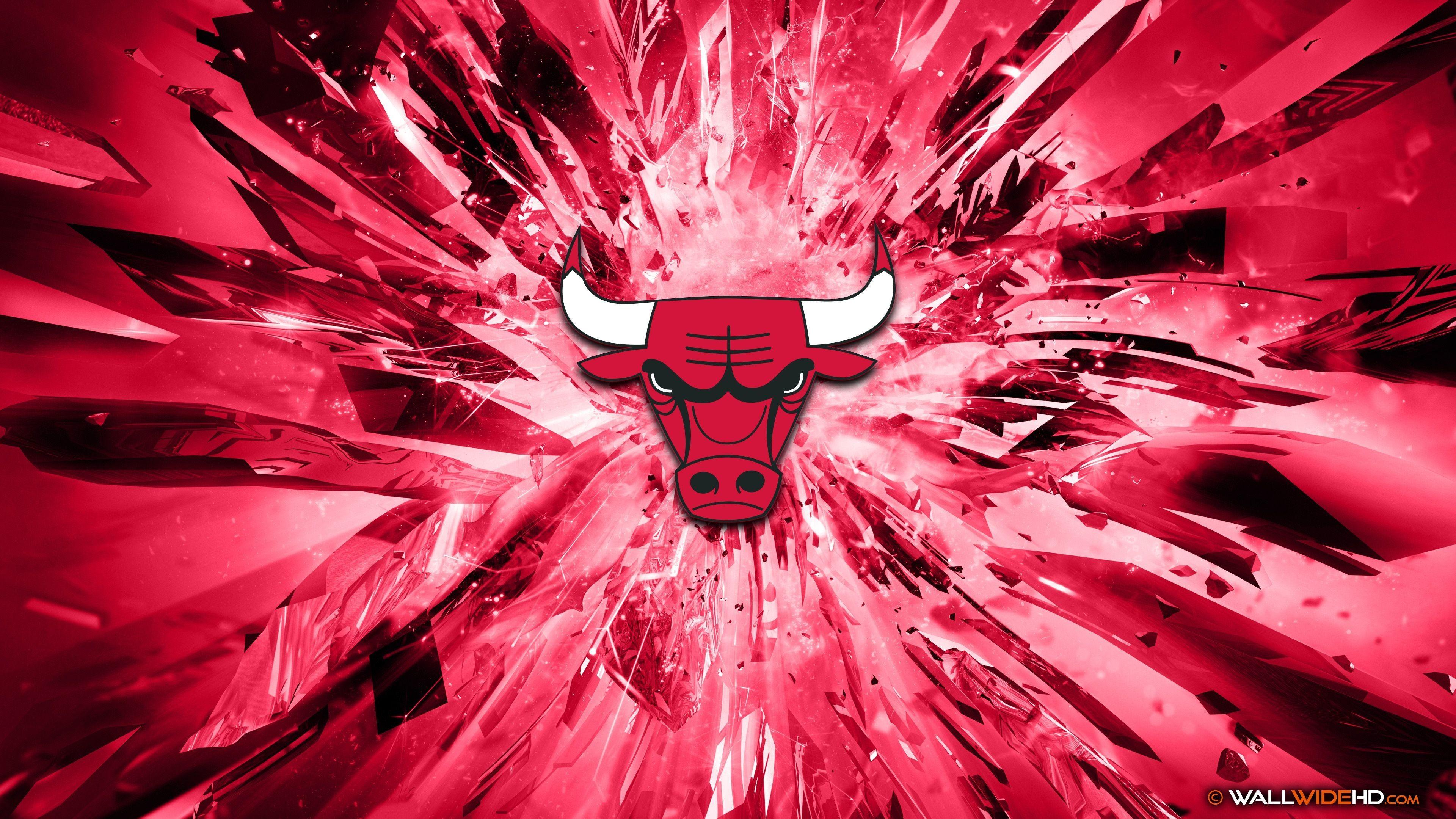 Chicago Bulls 2015 Logo 4K Wallpaper