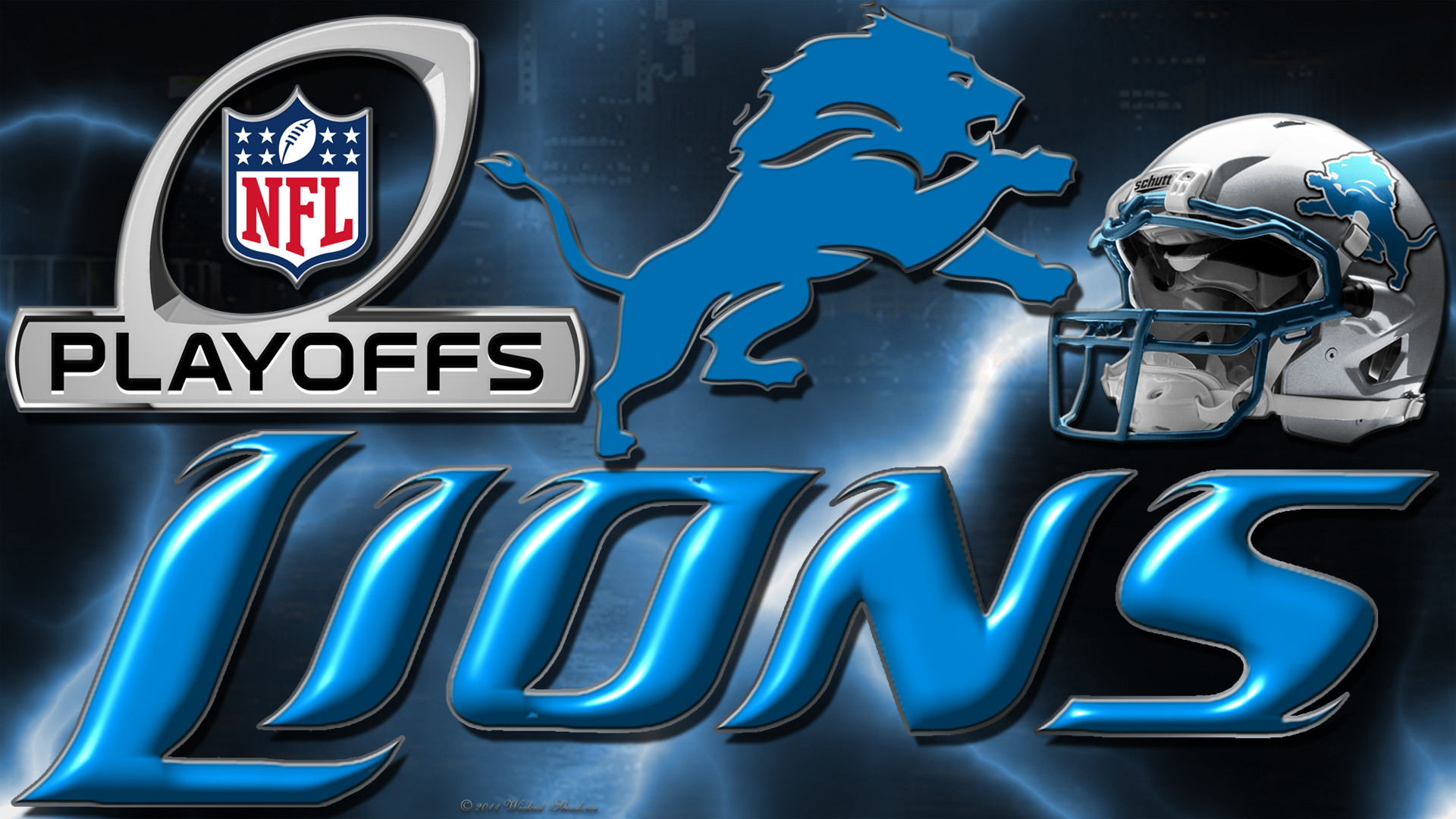 Wallpapers By Wicked Shadows: Detroit Lions 2012 Playoffs Wallpaper