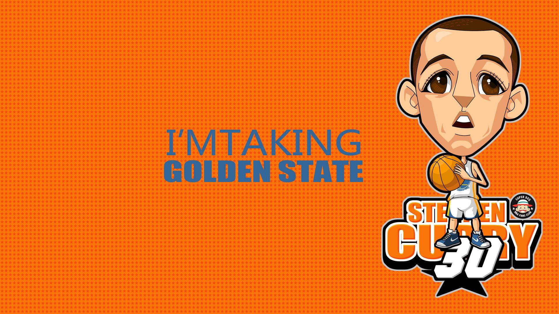 NBA Stephen Curry Cartoon Wallpaper I'm Taking Golden State