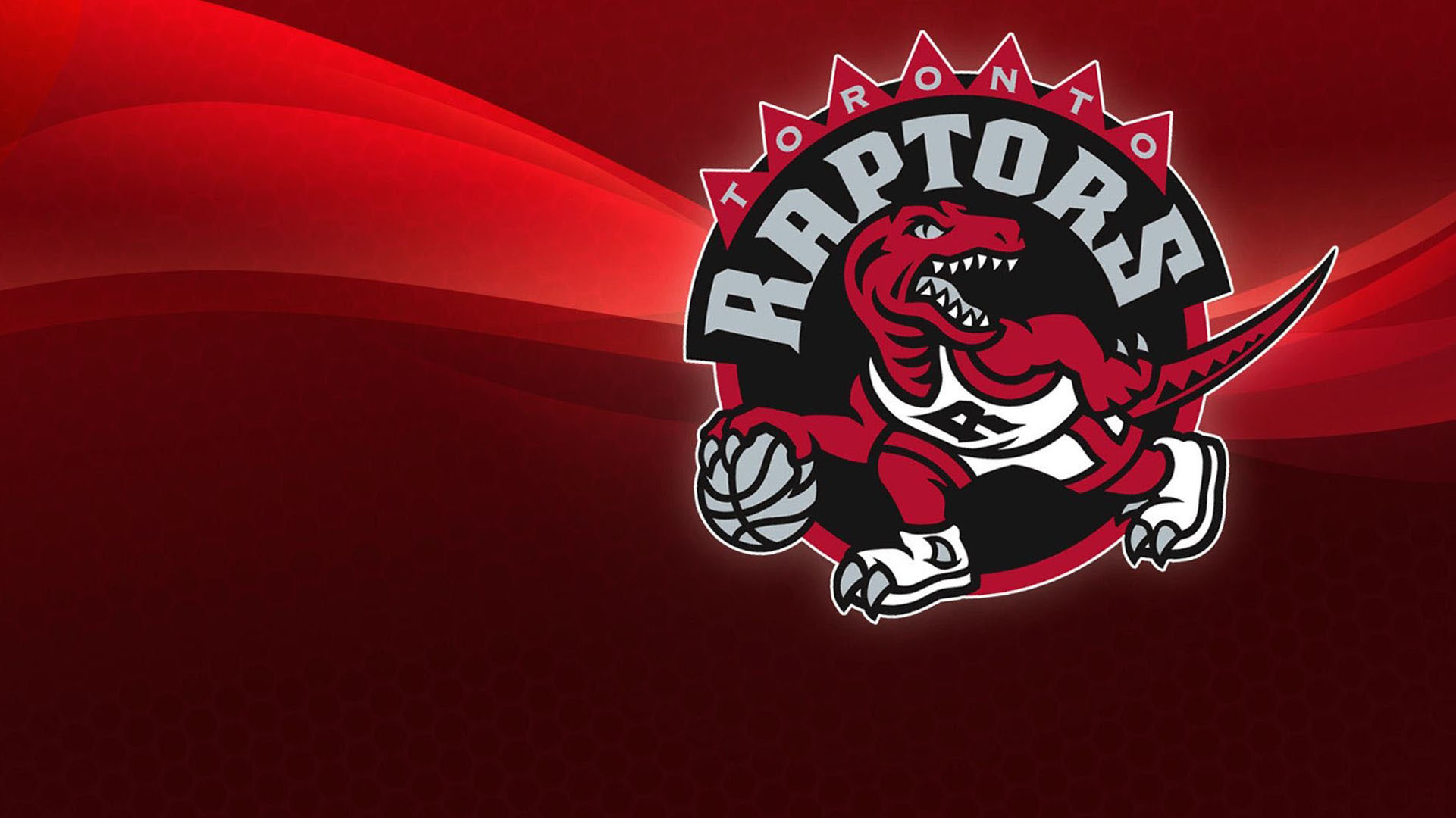 NBA Toronto Raptors Red Background Logo wallpaper