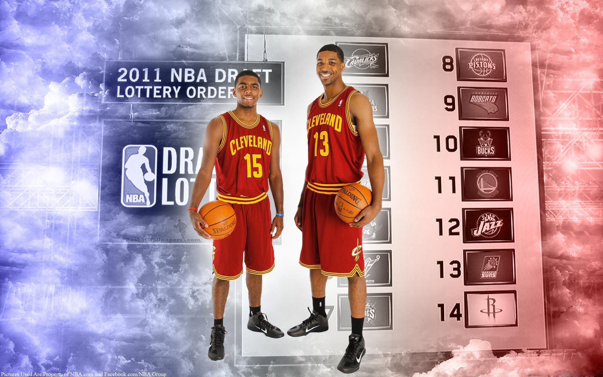 NBA Draft Cleveland Cavaliers Rookies Widescreen Wallpaper.