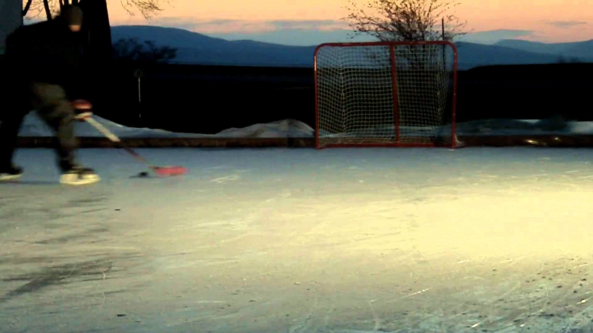 Outdoor Ice Hockey Rink