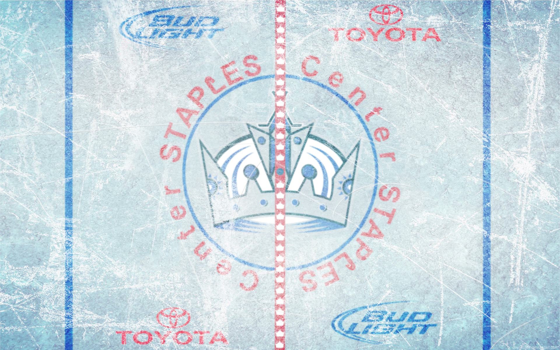 Staples Center Ice Wallpaper by DevinFlack Staples Center Ice Wallpaper by  DevinFlack