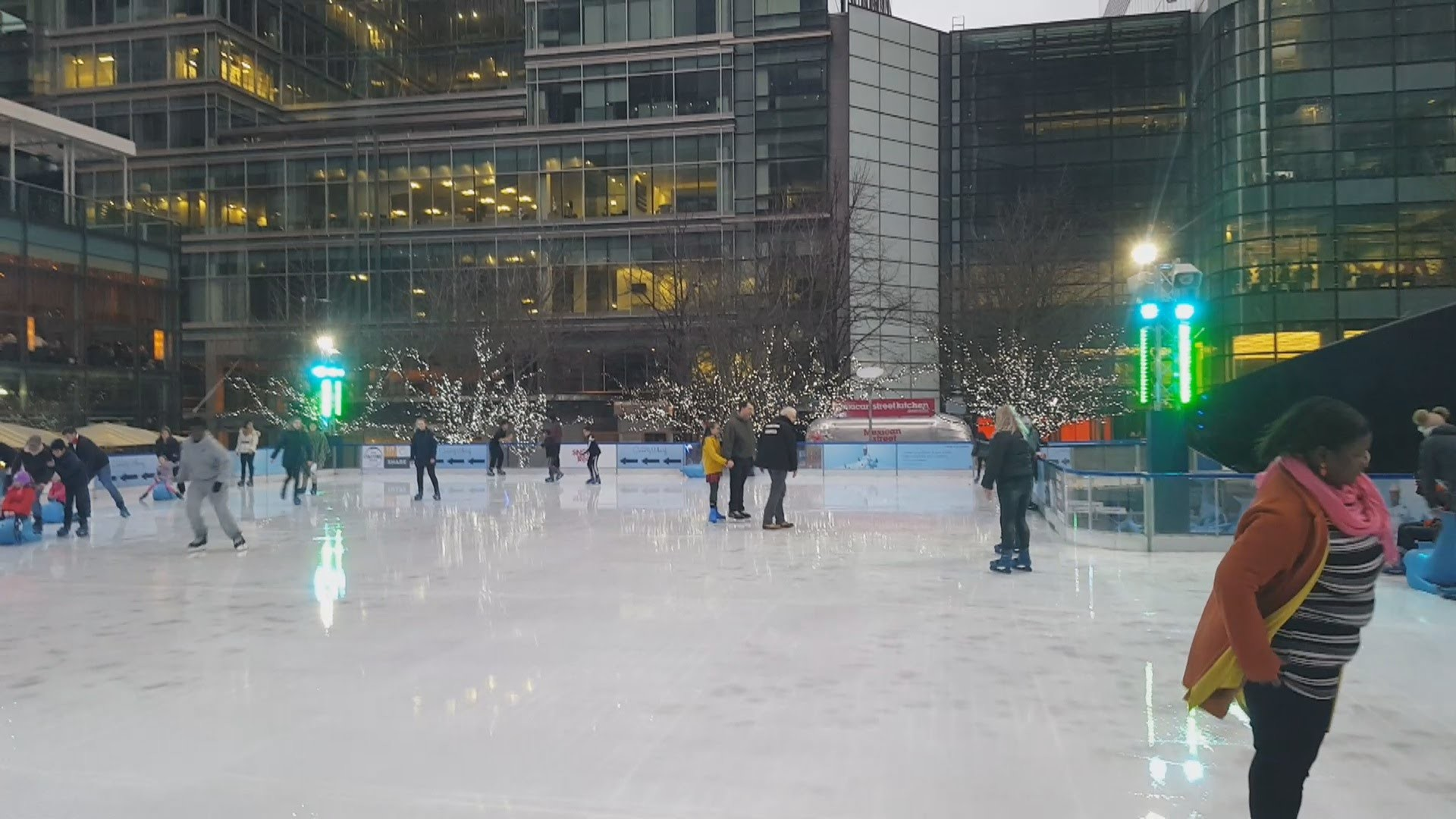 Ice Skating at Canary Wharf   Best Ice Rink In London