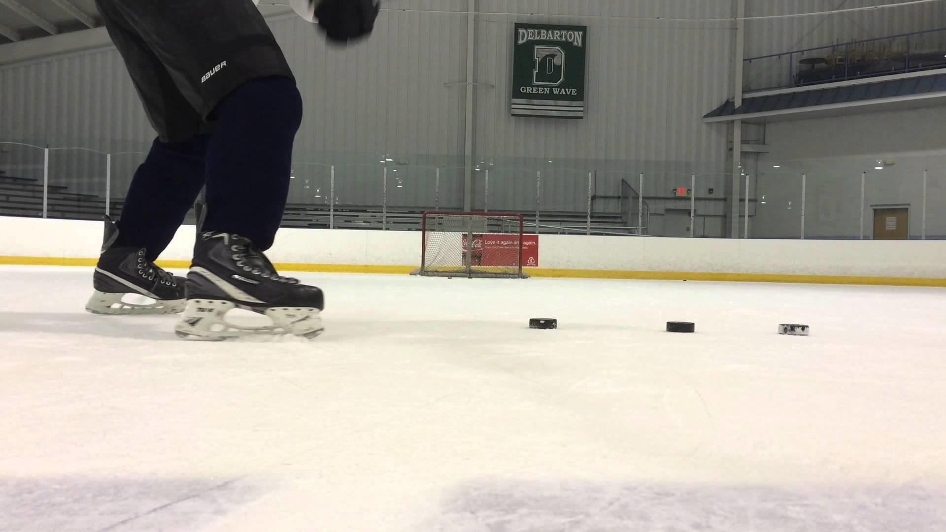 Bauer 1x rapid fired slap shots on ice hockey Upper Corner Hockey – YouTube