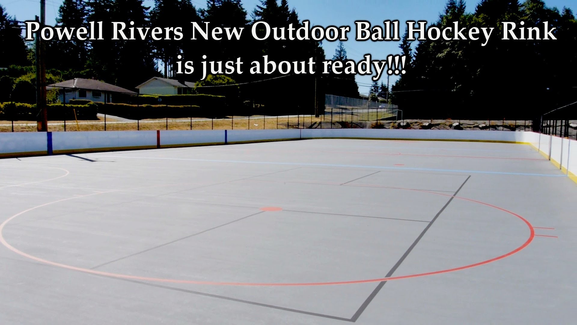 How To Build A New Outdoor Ball Hockey Arena (Powell River)