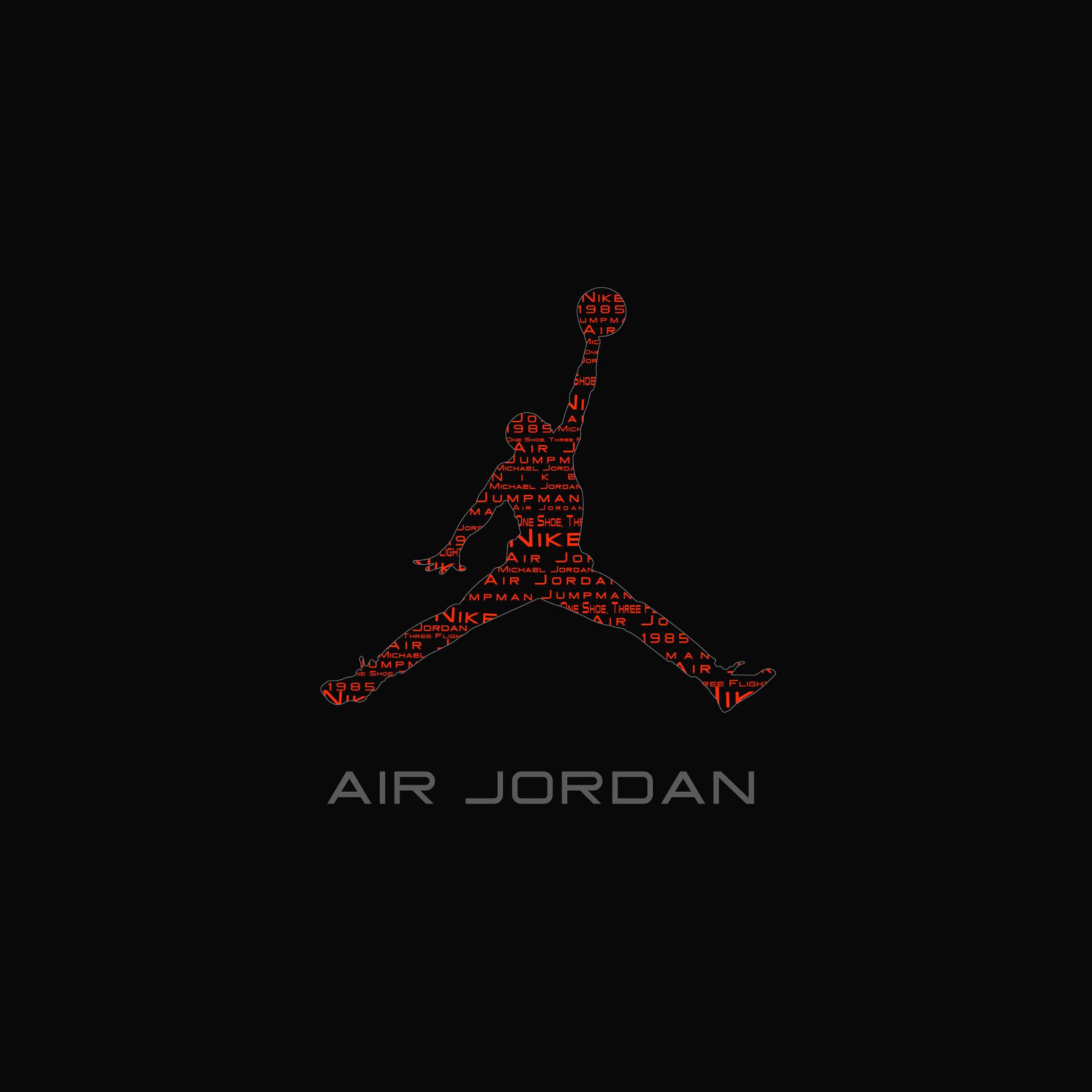 FREEIOS7   air-jordan-logo – parallax HD iPhone iPad wallpaper