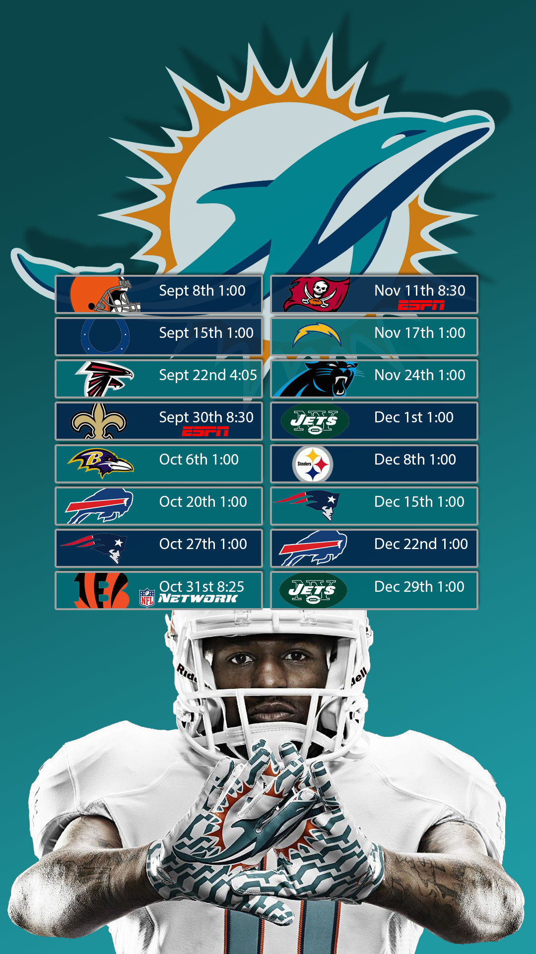 Lock Screen wallpaper with schedule for Samsung Galaxy phone I made .