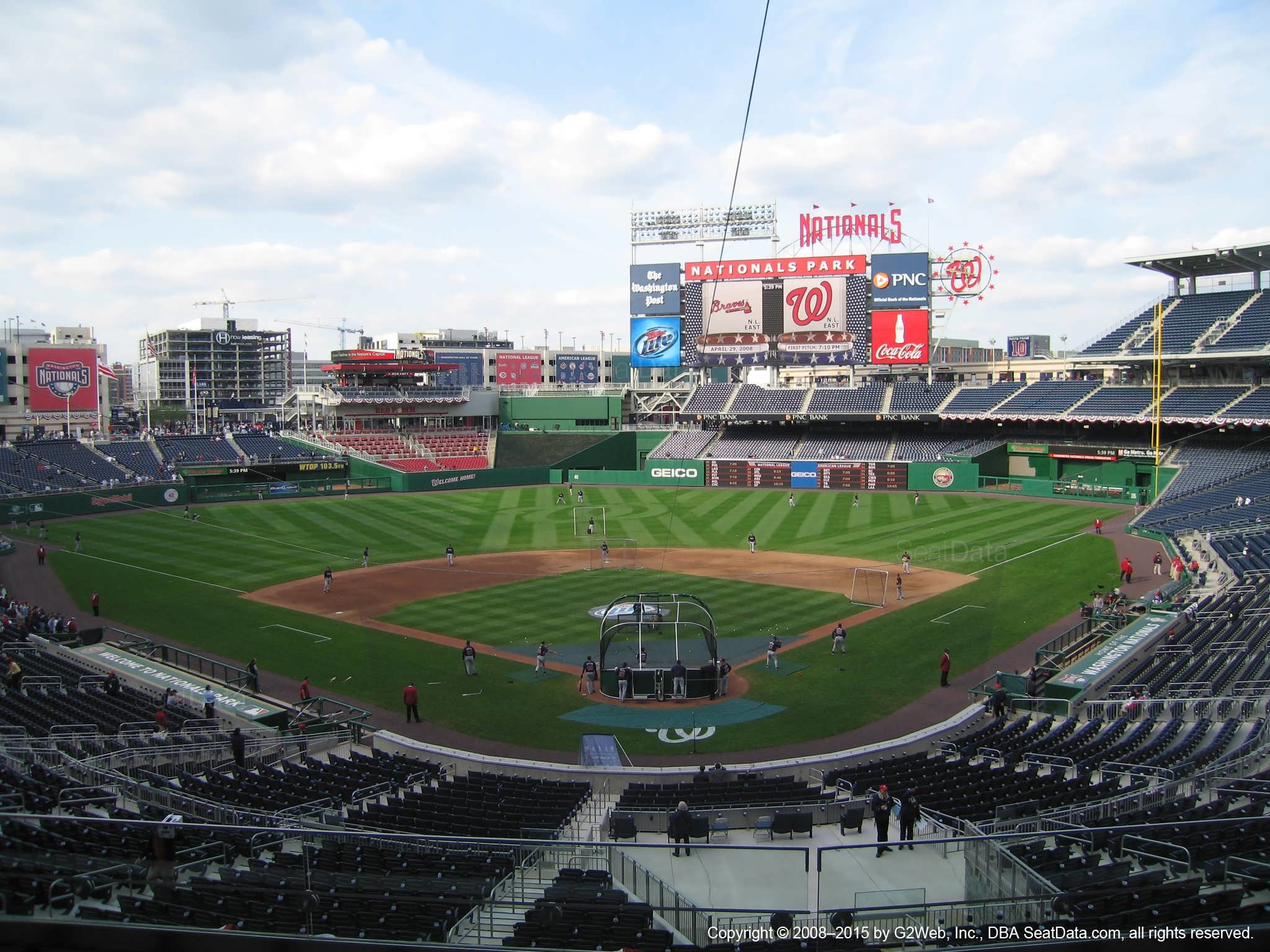 Nationals Park Seating View from Section 213
