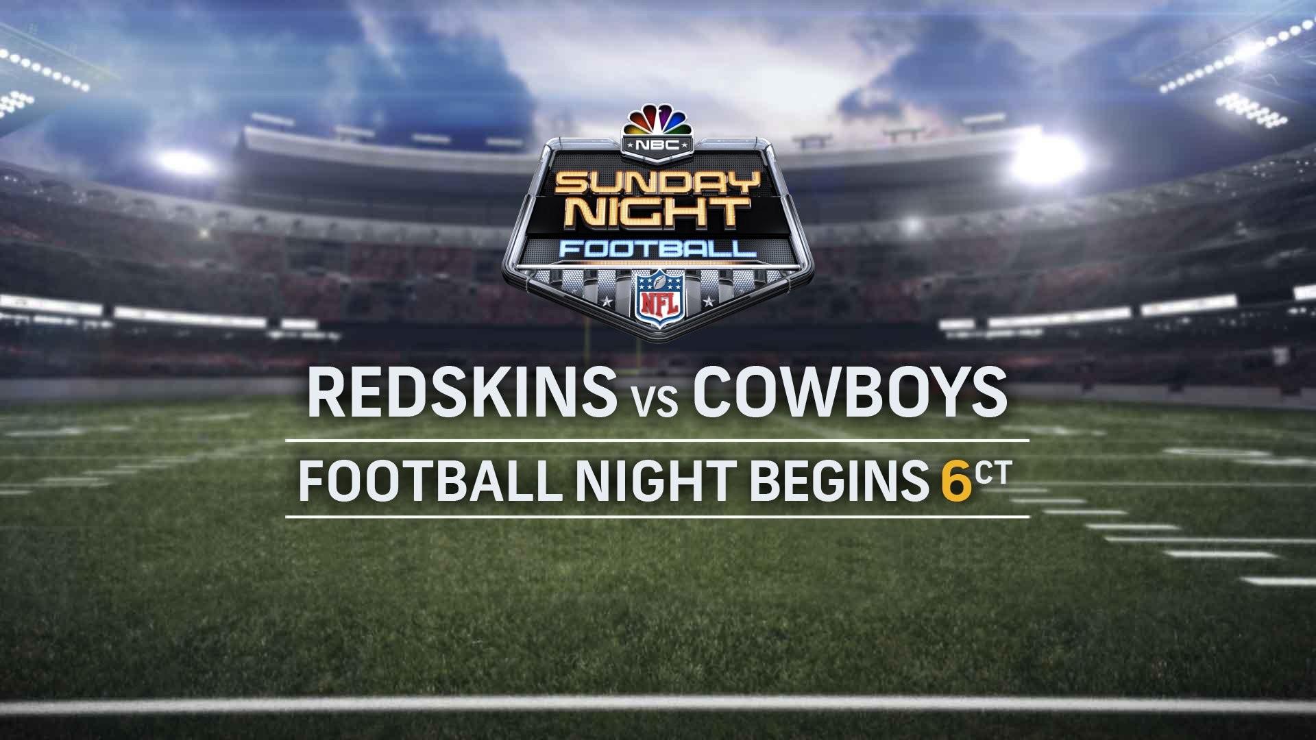 Redskins Cowboys Football Sunday Battle Night