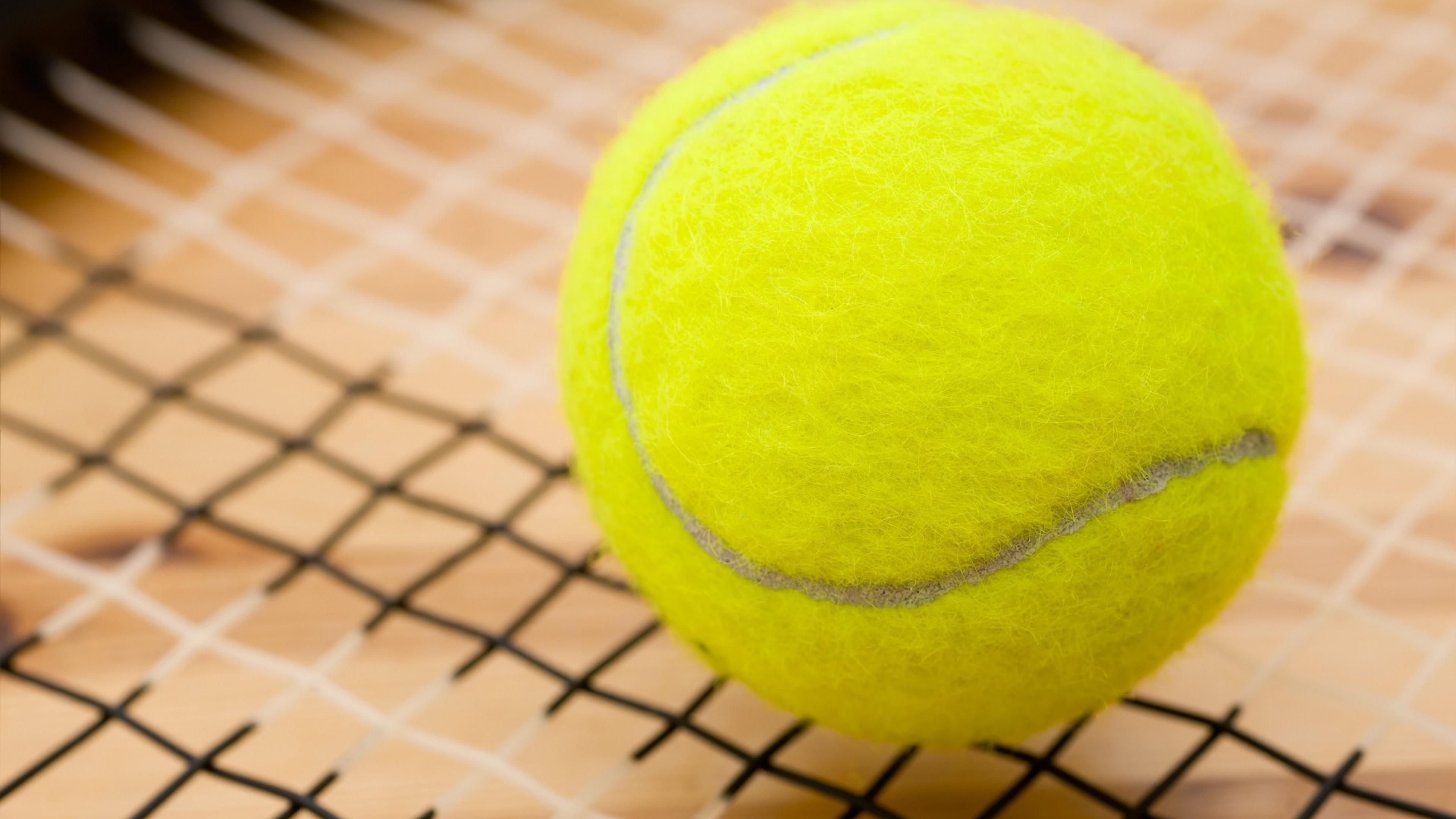 Preview wallpaper ball, tennis, sports 3840×2160