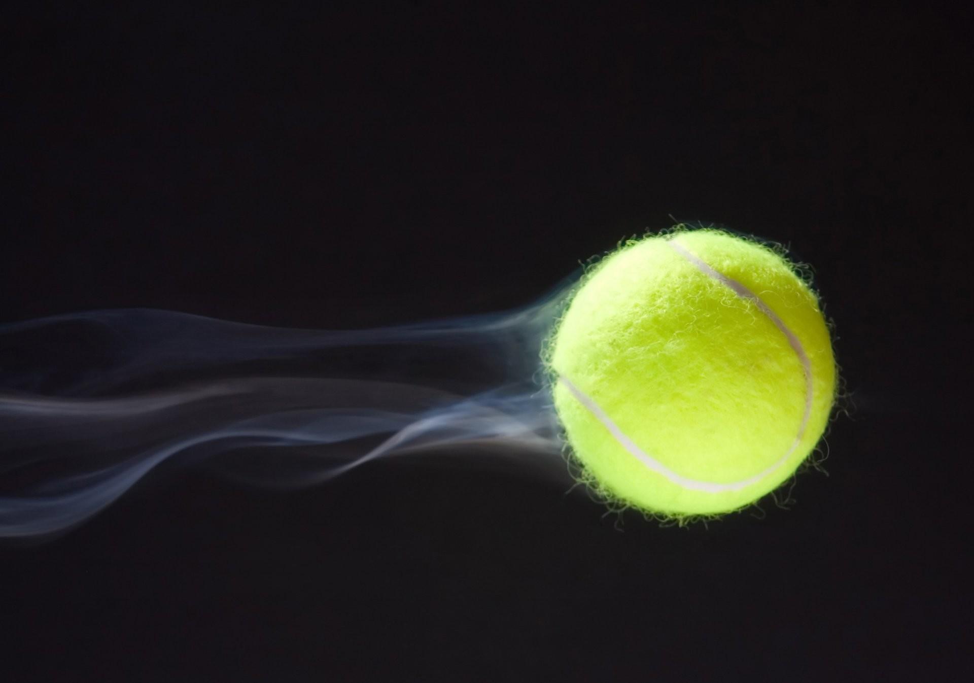 tennis ball tennis ball tennis tennis trajectory of the flight flex cable  speed dark blue background