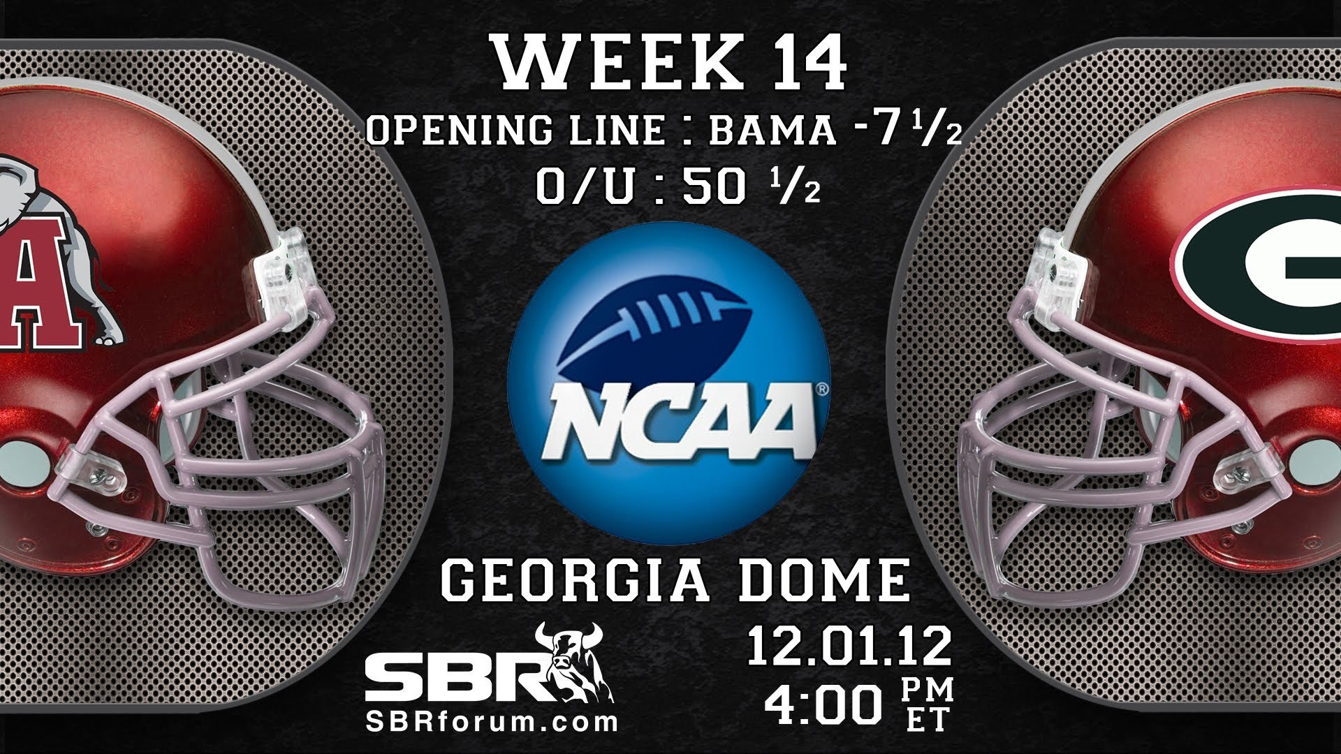 Alabama Crimson Tide vs Georgia Bulldogs: 2012 College Football Picks SEC  Championship Game – YouTube