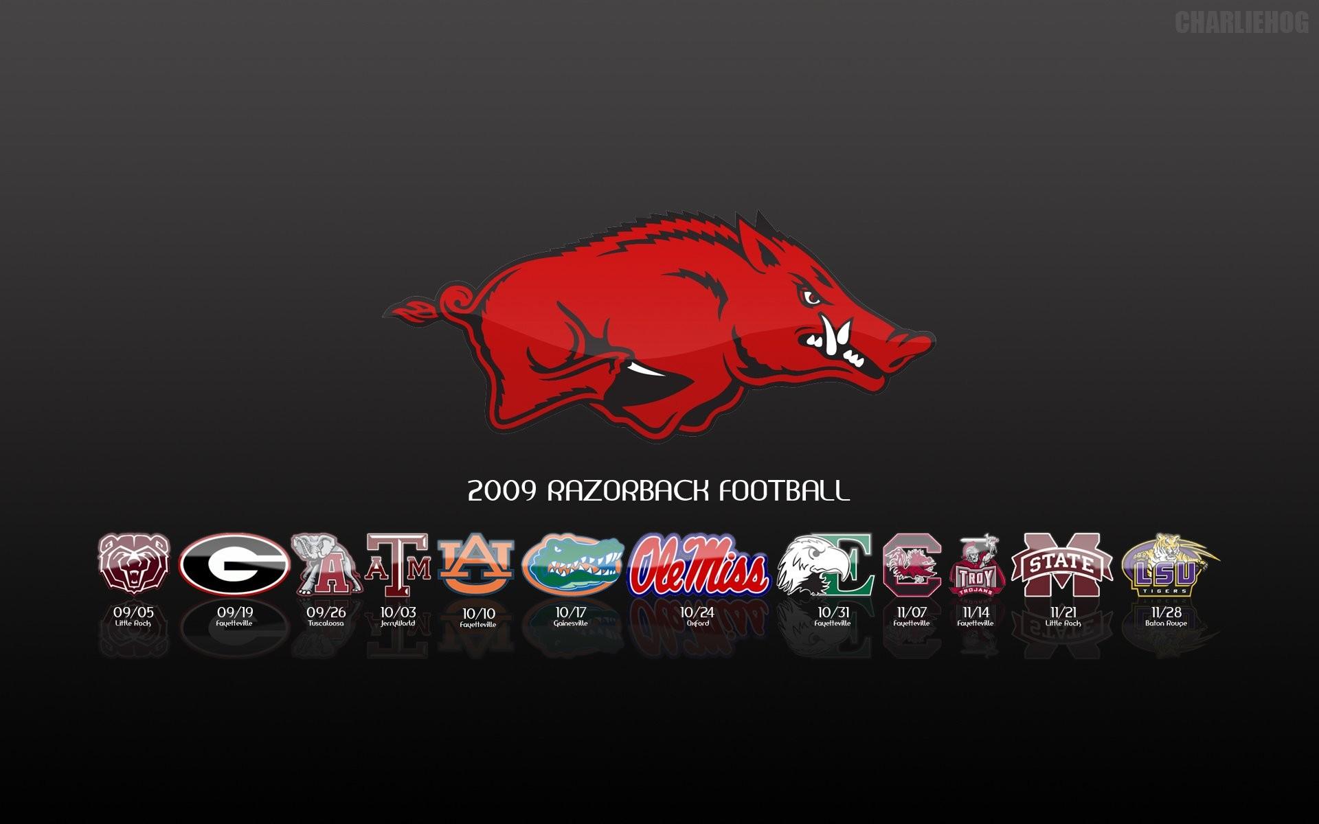 ARKANSAS RAZORBACKS college football wallpaper background by .