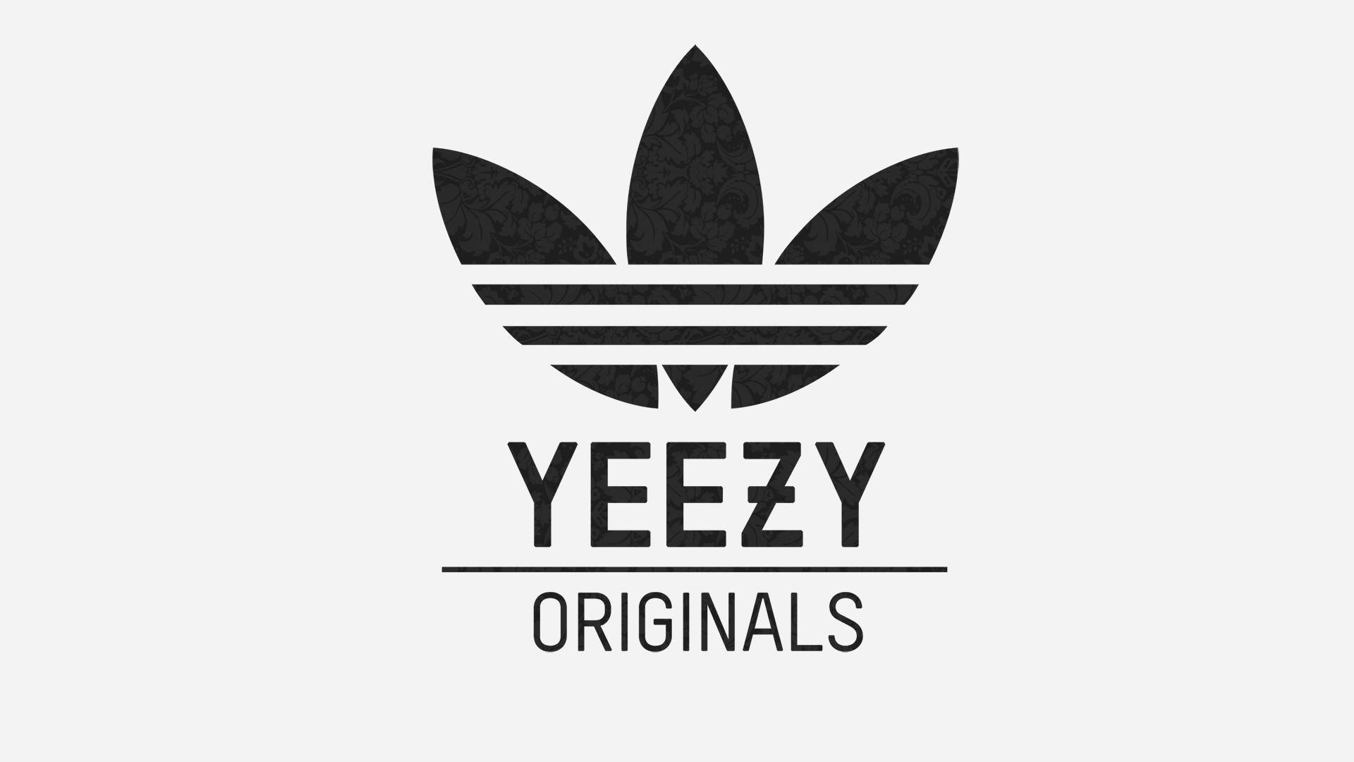 Preview wallpaper adidas, yeezy, logo 1920×1080