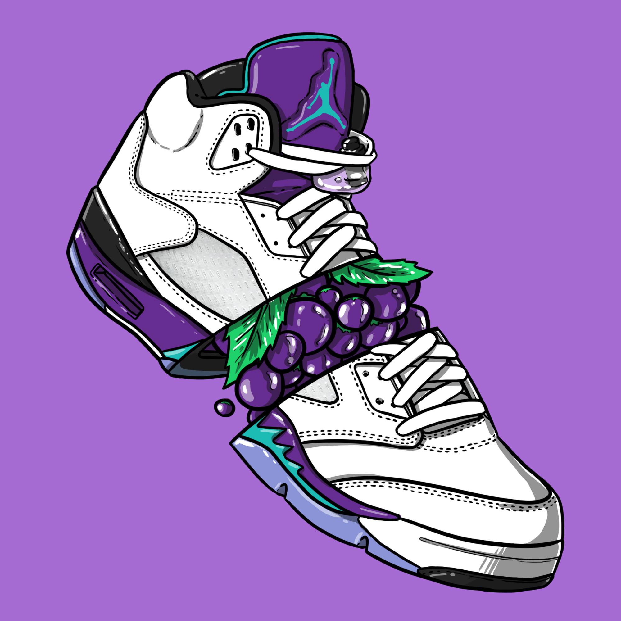 """Sneaker Art – Jordan V """"Grape"""""""