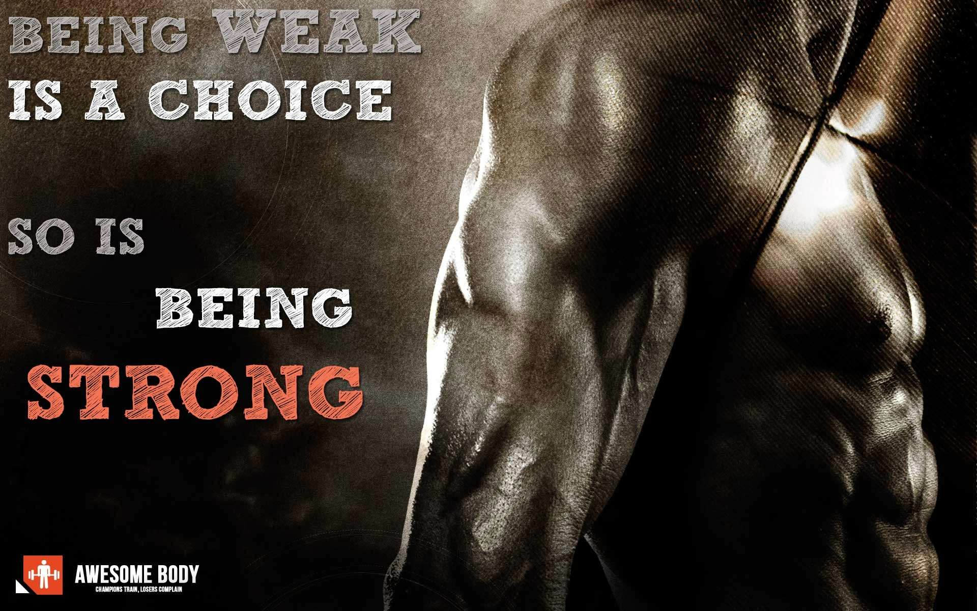 bodybuilding motivation wallpaper hd being strong is choice