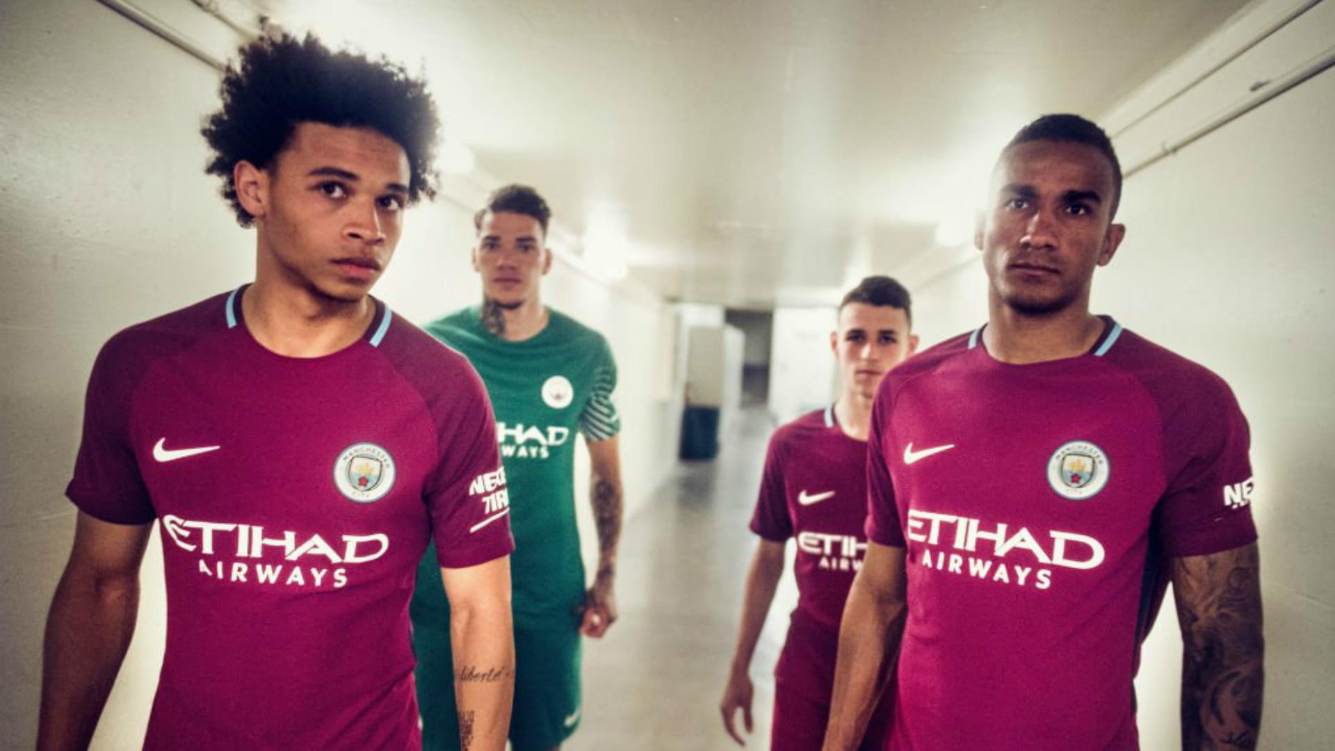 Manchester City away shirt maillot extérieur 2017-2018