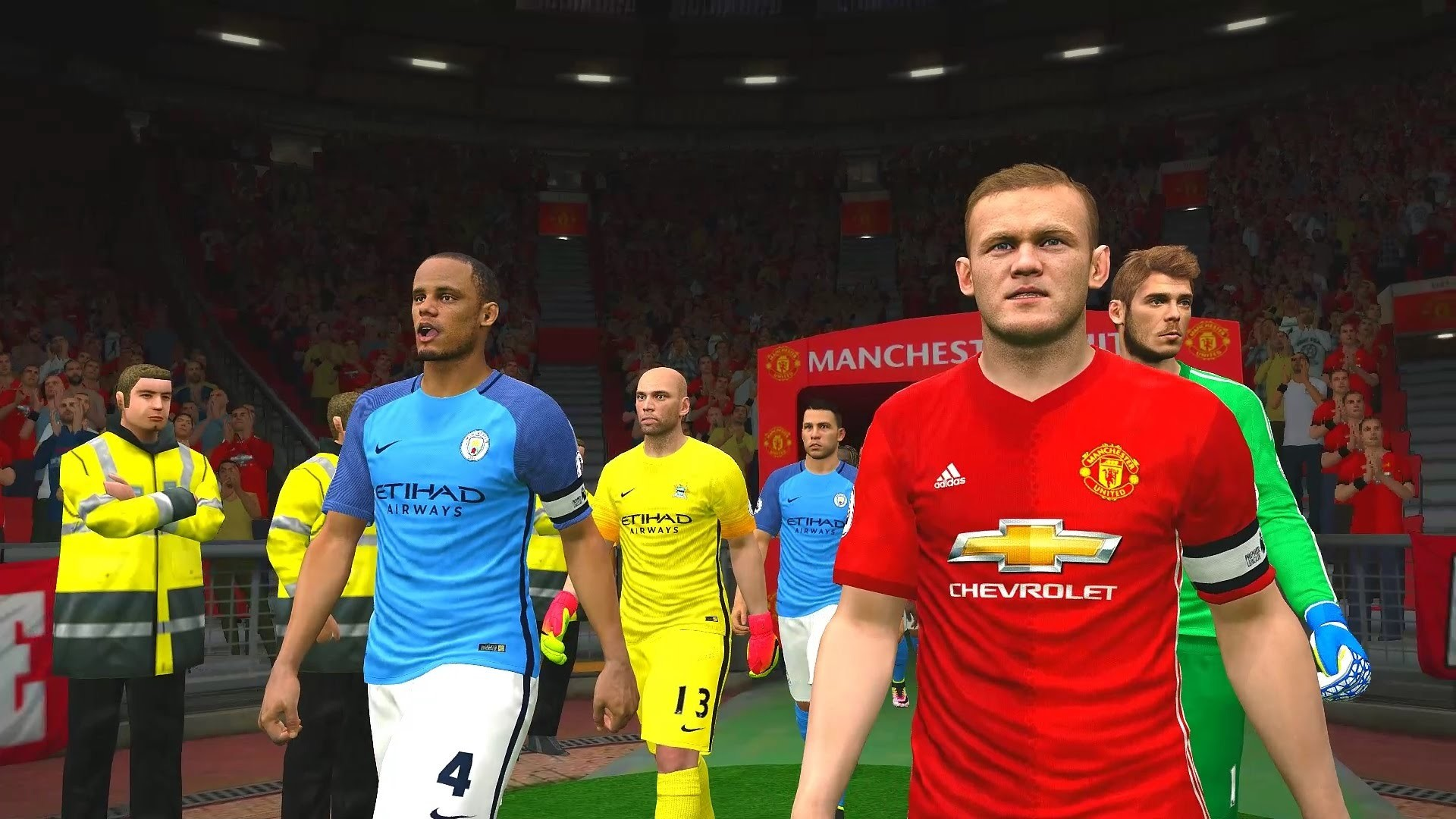 Premier League 2016/2017 † Manchester United vs Manchester City Gameplay –  YouTube