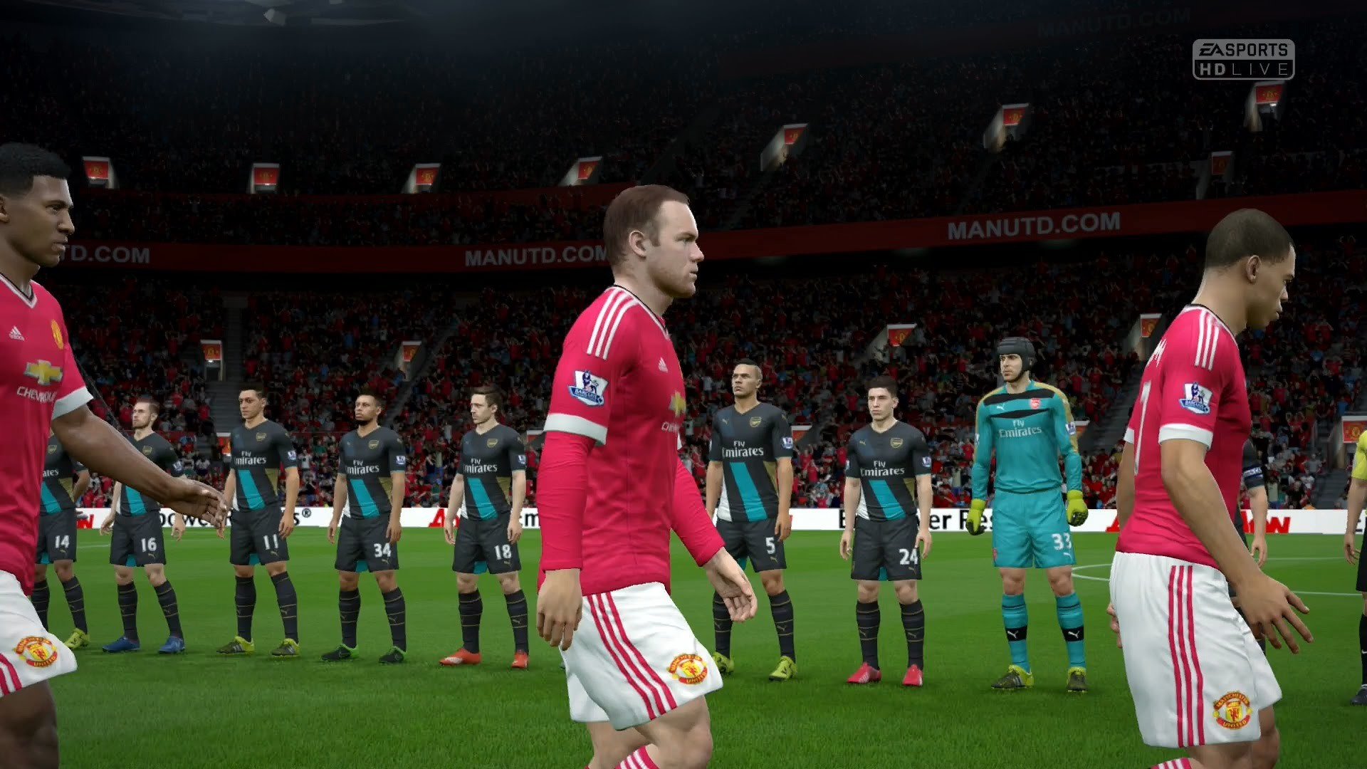FIFA 16 | Manchester United vs Arsenal – Full Gameplay (PS4/Xbox One) –  YouTube
