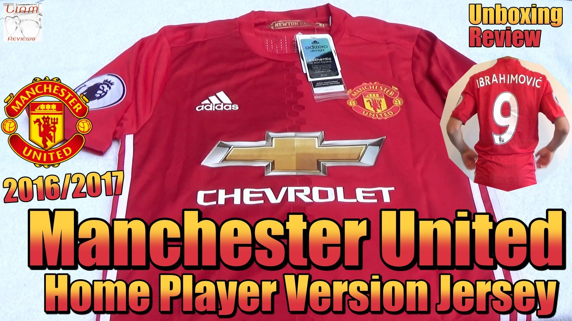 Adidas 2016/17 Manchester United Home Jersey | Zlatan Ibrahimovic #9 |  Unboxing/Review – YouTube