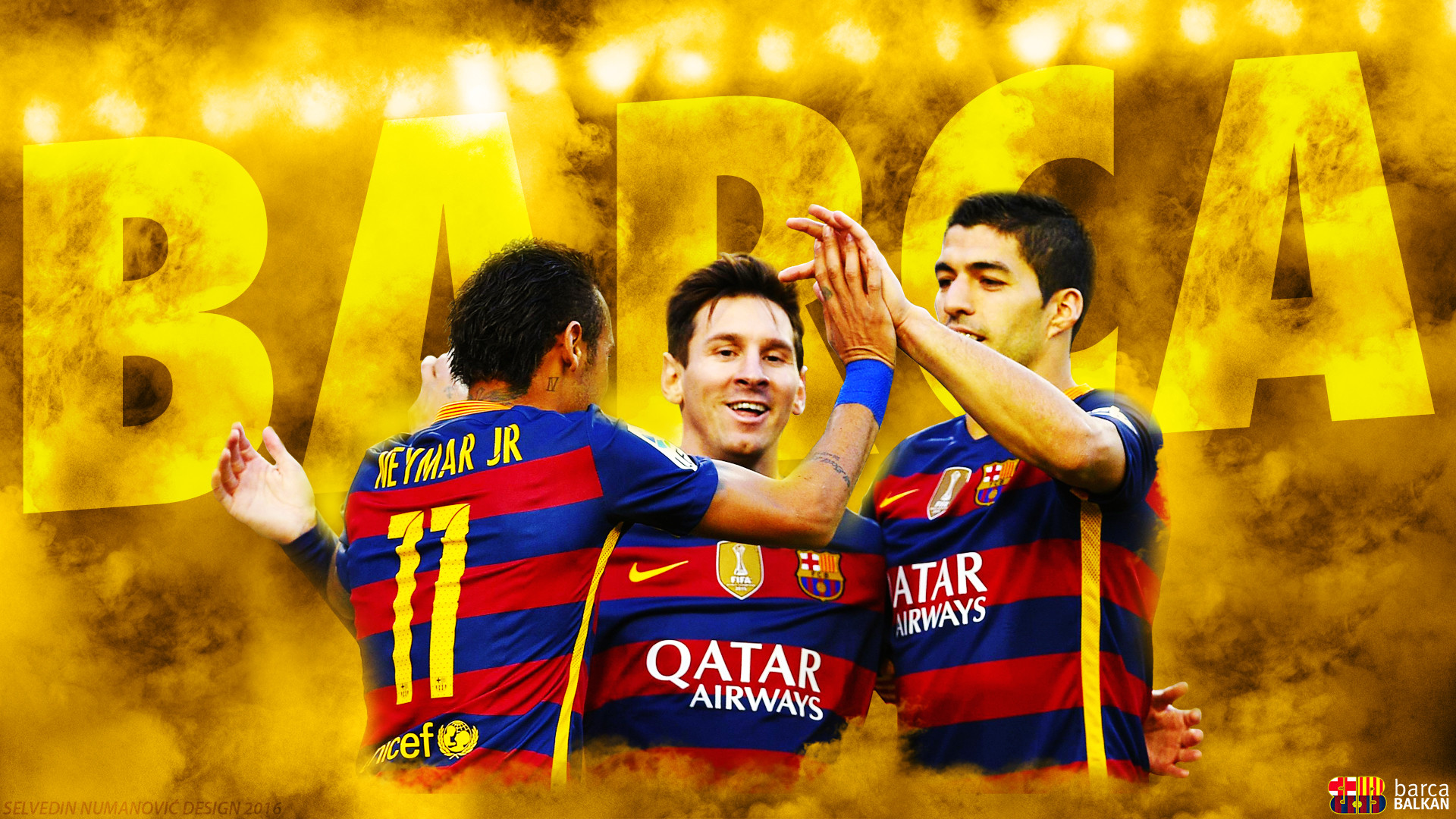 … Messi Suarez Neymar 2016 – HD WALLPAPER by SelvedinFCB