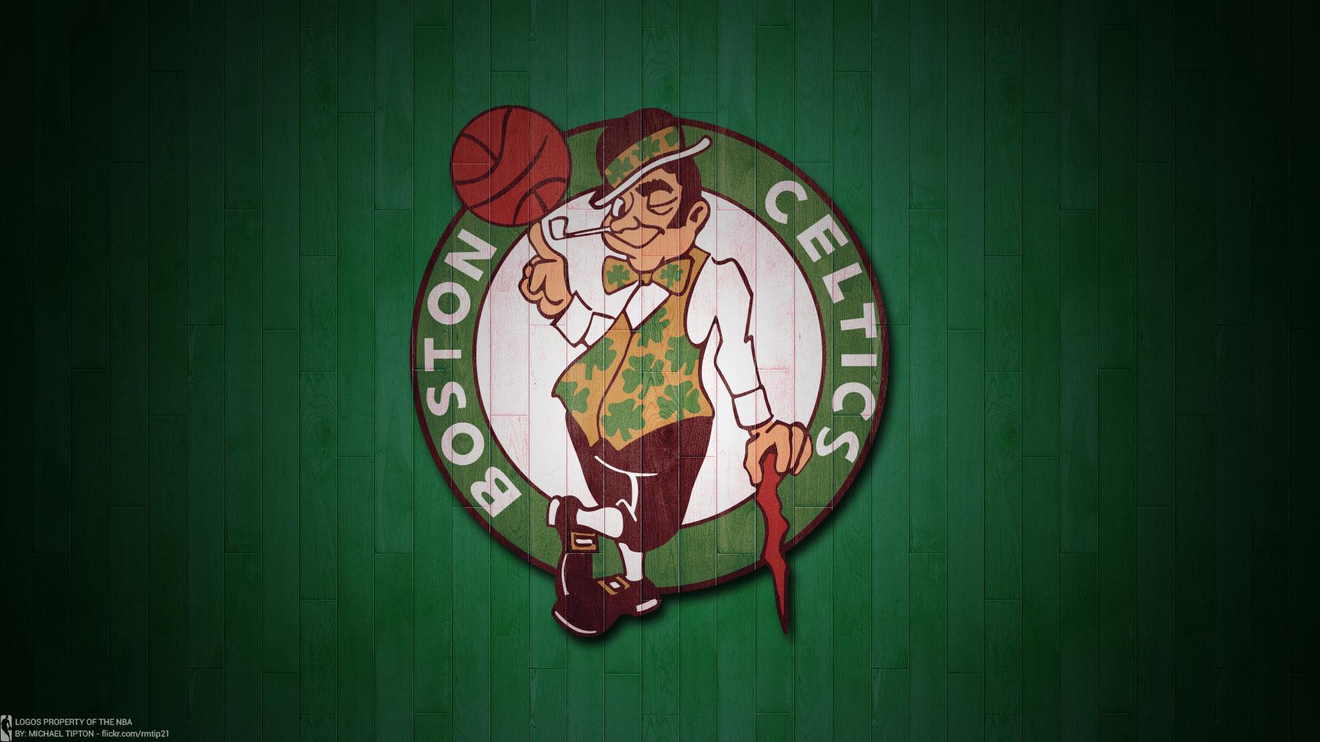 NBA 2017 Boston Celtics hardwood logo desktop wallpaper