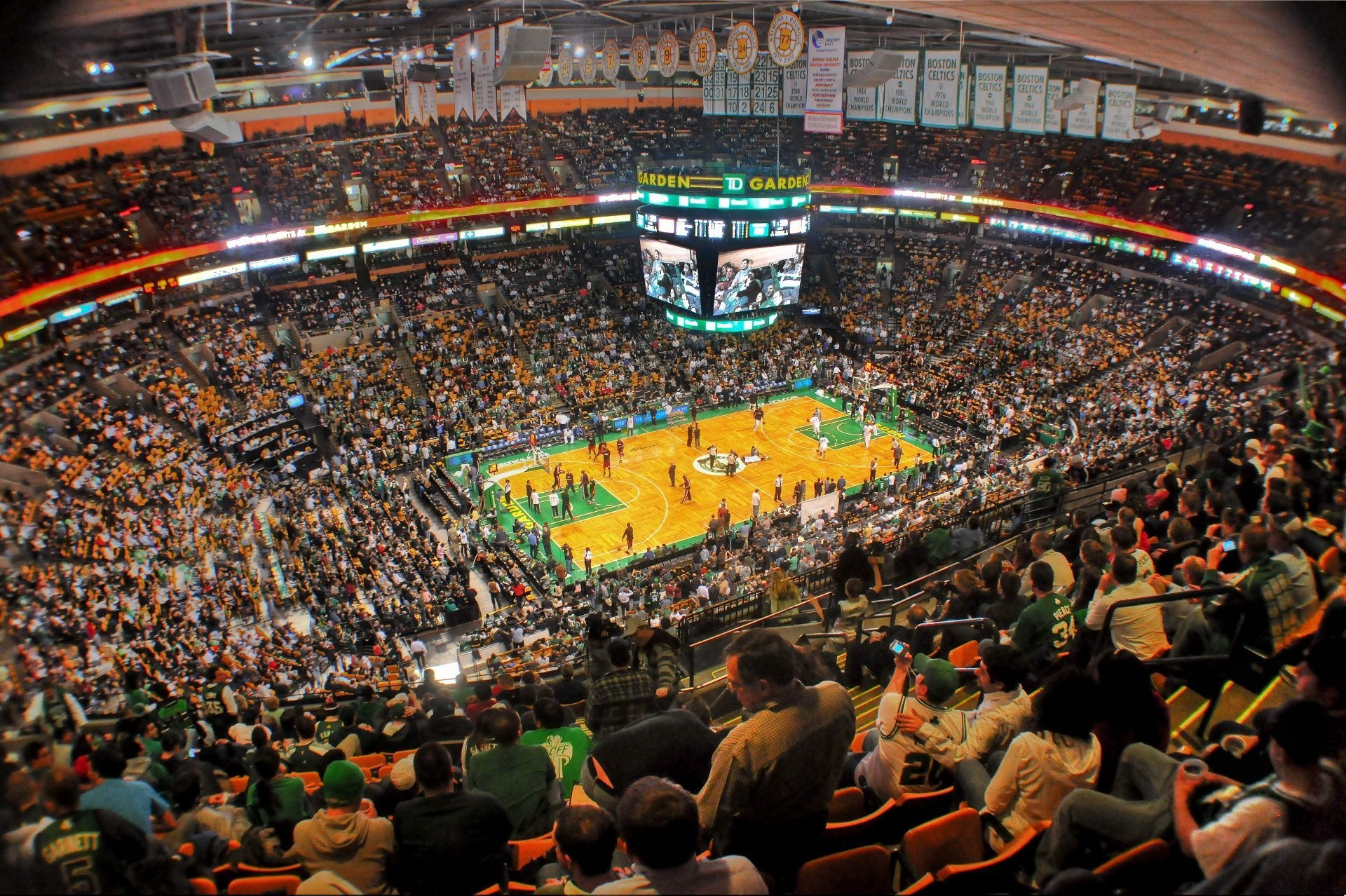 boston celtics and the garden people basketball