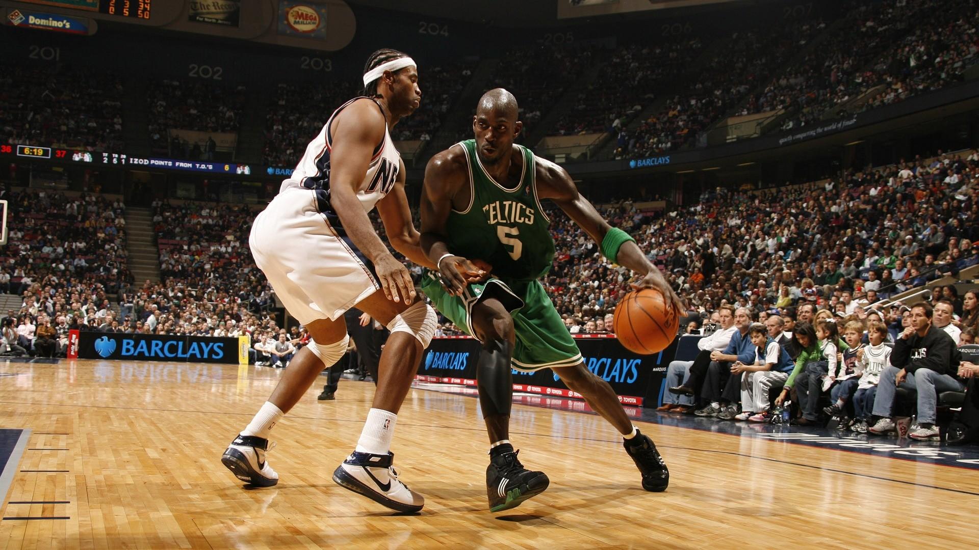 NBA Basketball Kevin Garnett Boston Celtics versus New Jersey Nets wallpaper