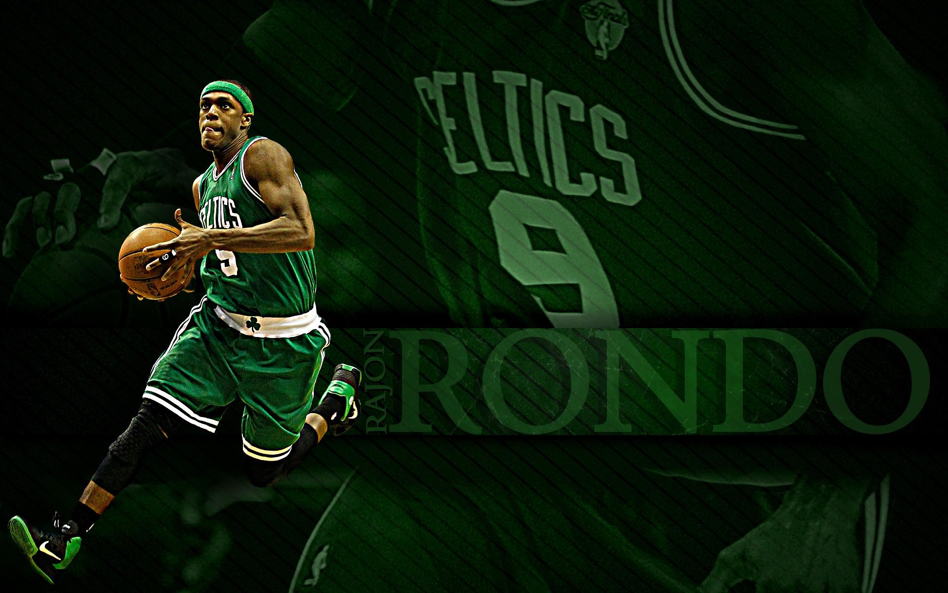 Rajon Rondo Wallpaper – Top PG, Center and Foundation of Boston Celtics!
