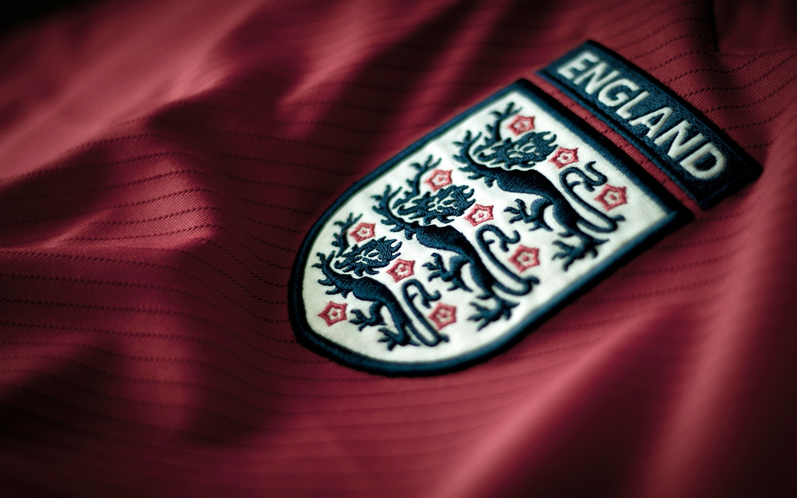 Closeup of England Soccer Team Shirt Badge wallpaper